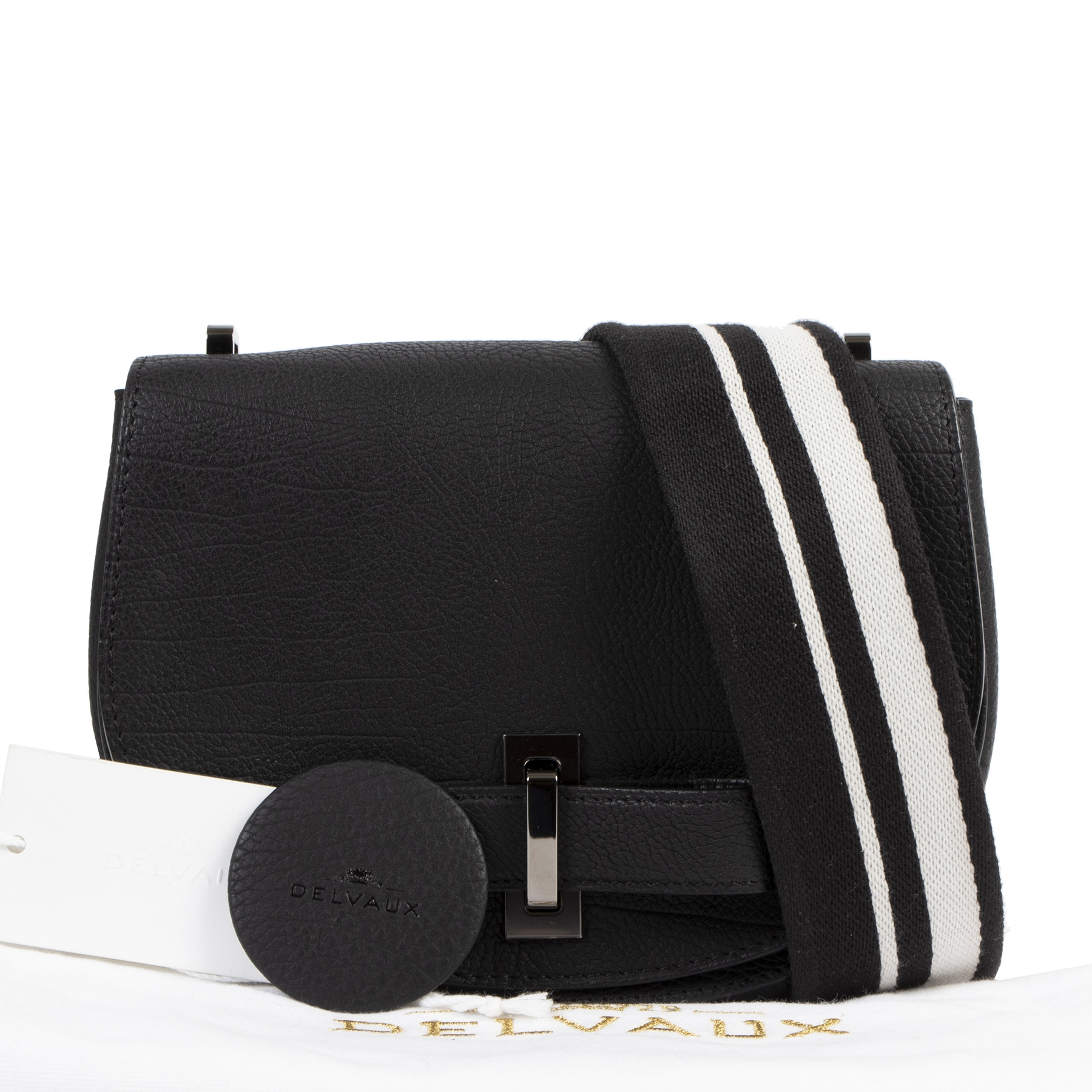 net als nieuw Delvaux Black And White Le Mutin Mini Crispy Calf