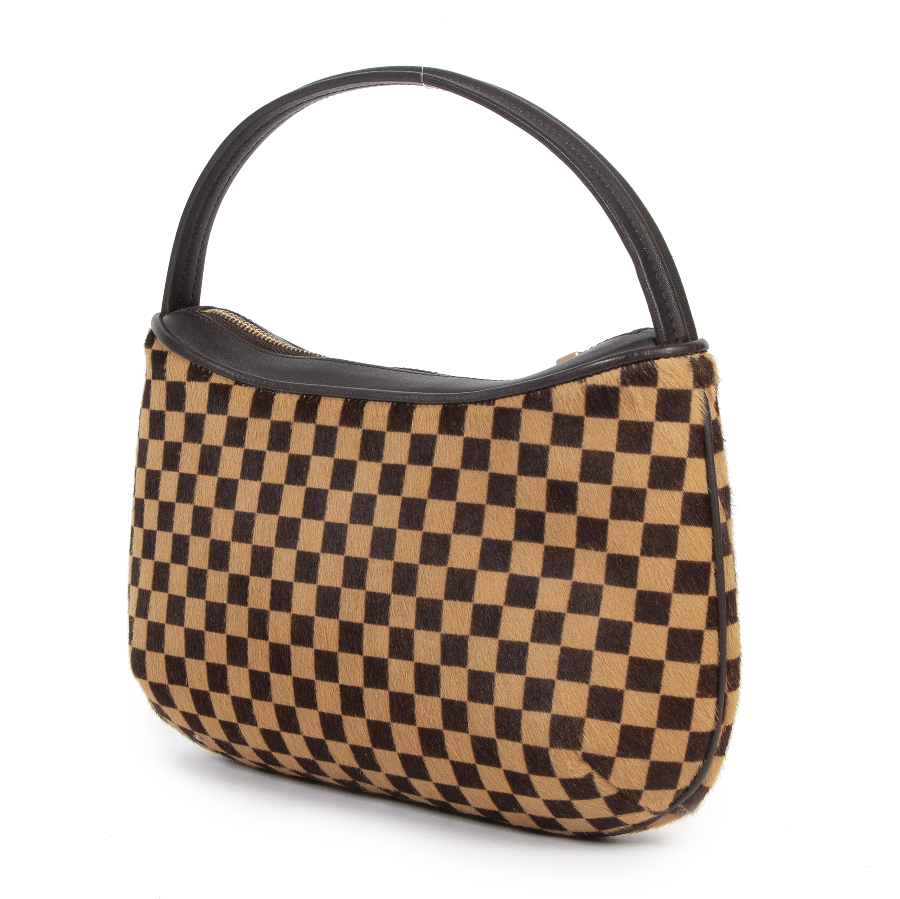 Authentieke tweedehands vintage Louis Vuitton Damier Sauvage Tigre Top Handle Bag koop online webshop LabelLOV