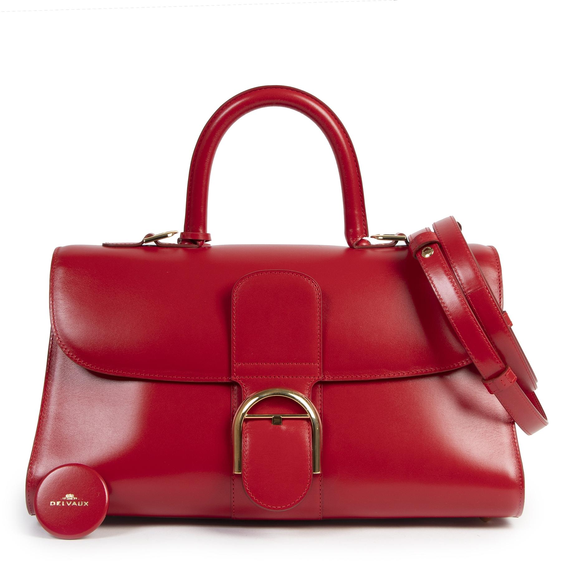 Authentieke tweedehands vintage Delvaux Brillant East West Lipstick Bag koop online bij webshop LabelLOV