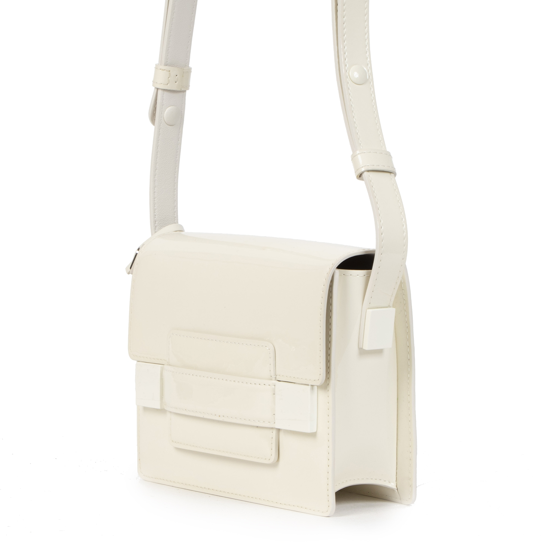 Delvaux Madame Mini White Leather Shoulder Bag