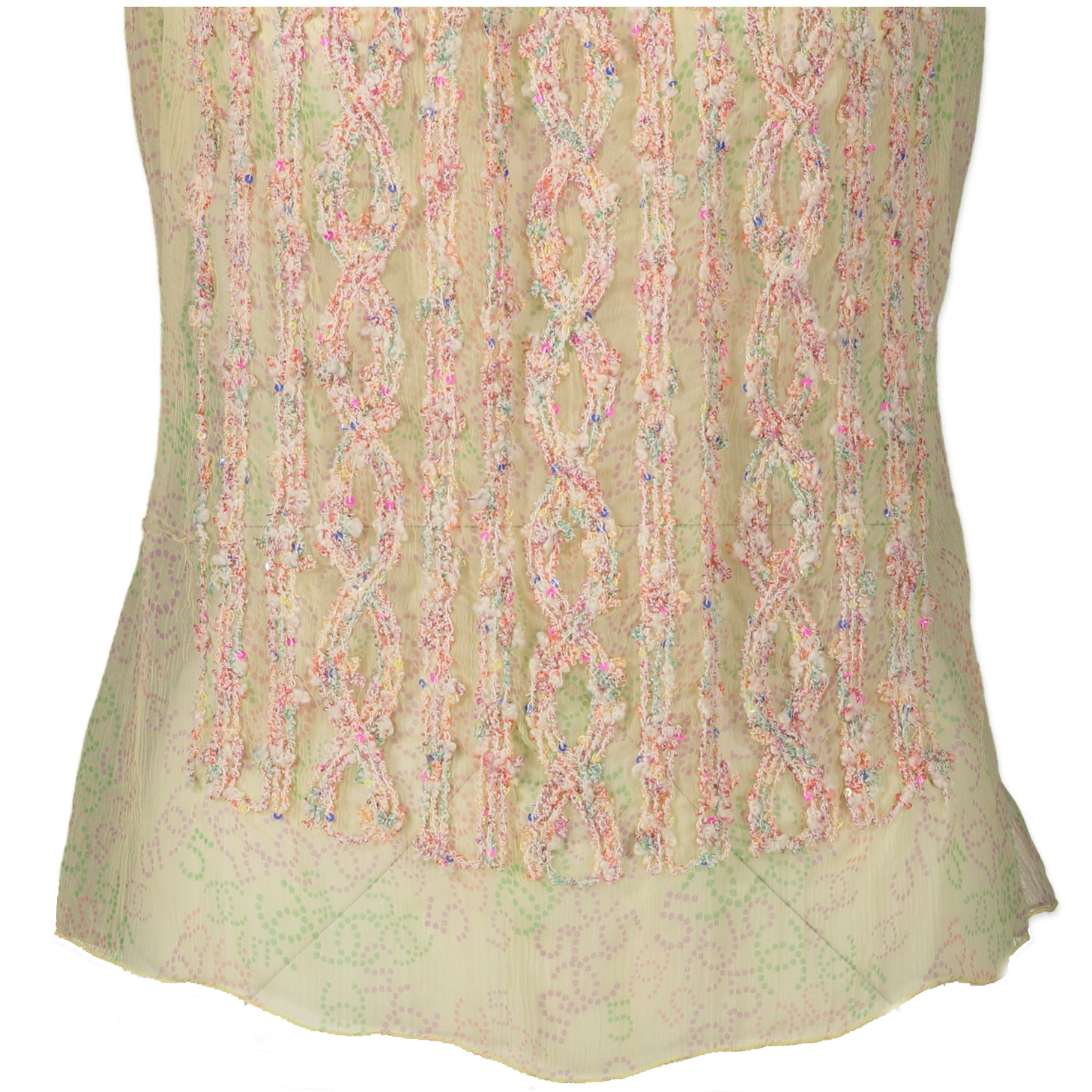 Chanel Silk Embroidered Top - size FR44