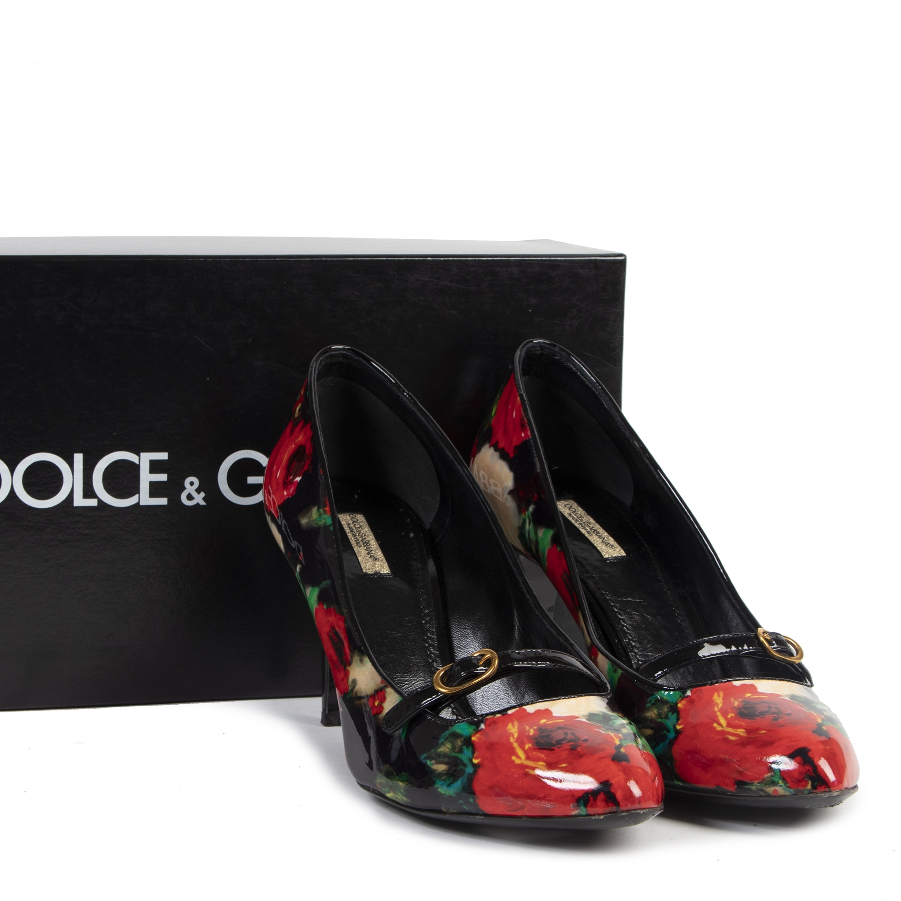 Authentic secondhand Dolce & Gabbana Floral Patent Leather Pumps - Size 41 designer shoes luxury vintage webshop fashion safe secure online shopping
