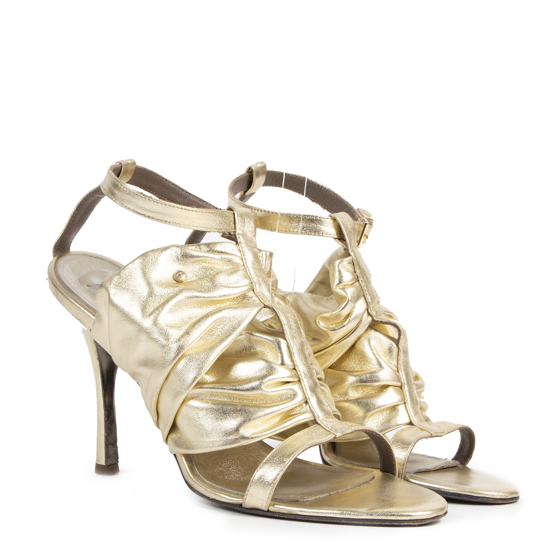 Authentique seconde-main vintage Just Cavalli Gold Heels - Size 40 achète en ligne webshop LabelLOV