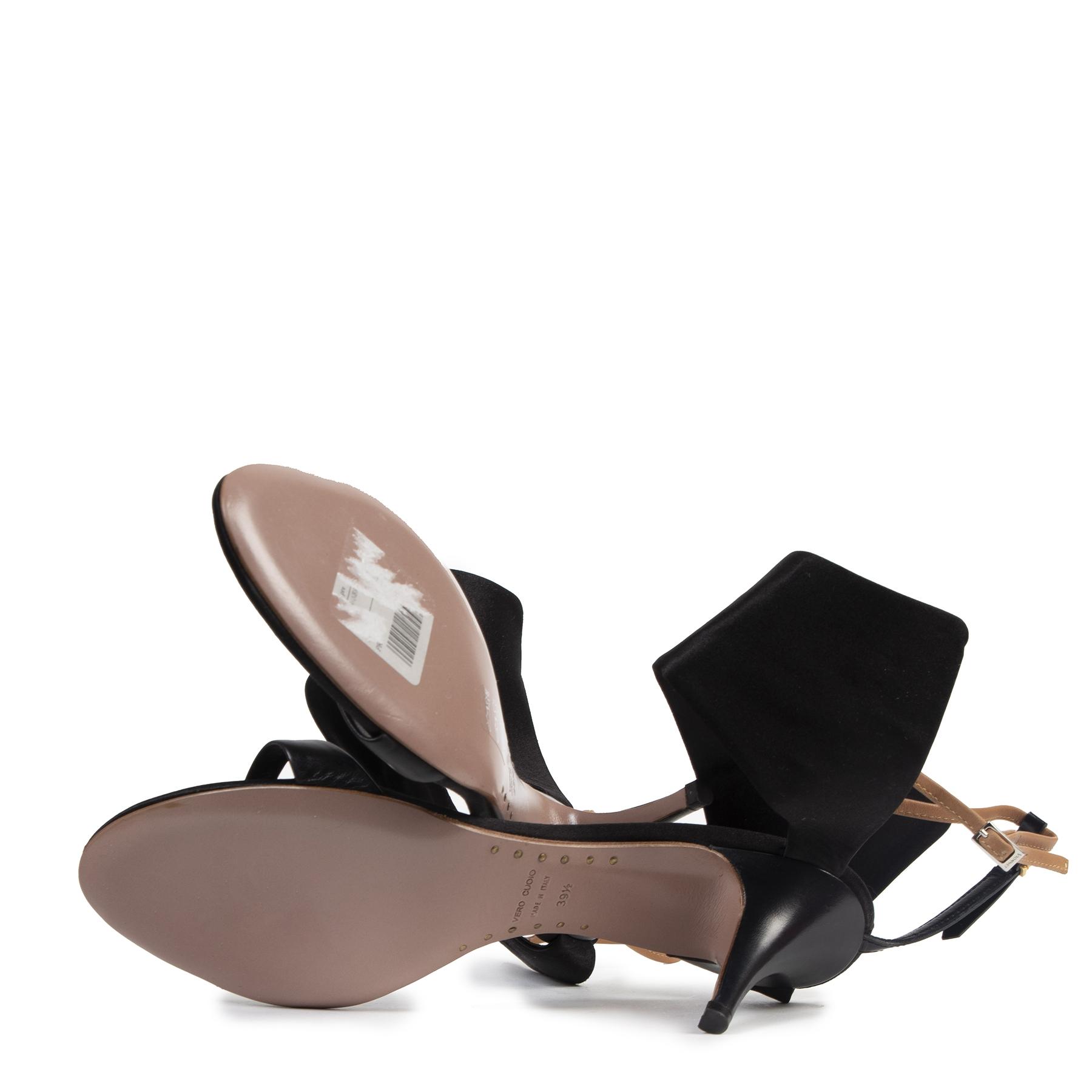Authentieke tweedehands vintage Giuseppe Zanotti x Vionnet Black Kitten Heels - Size 39,5 koop online webshop LabelLOV