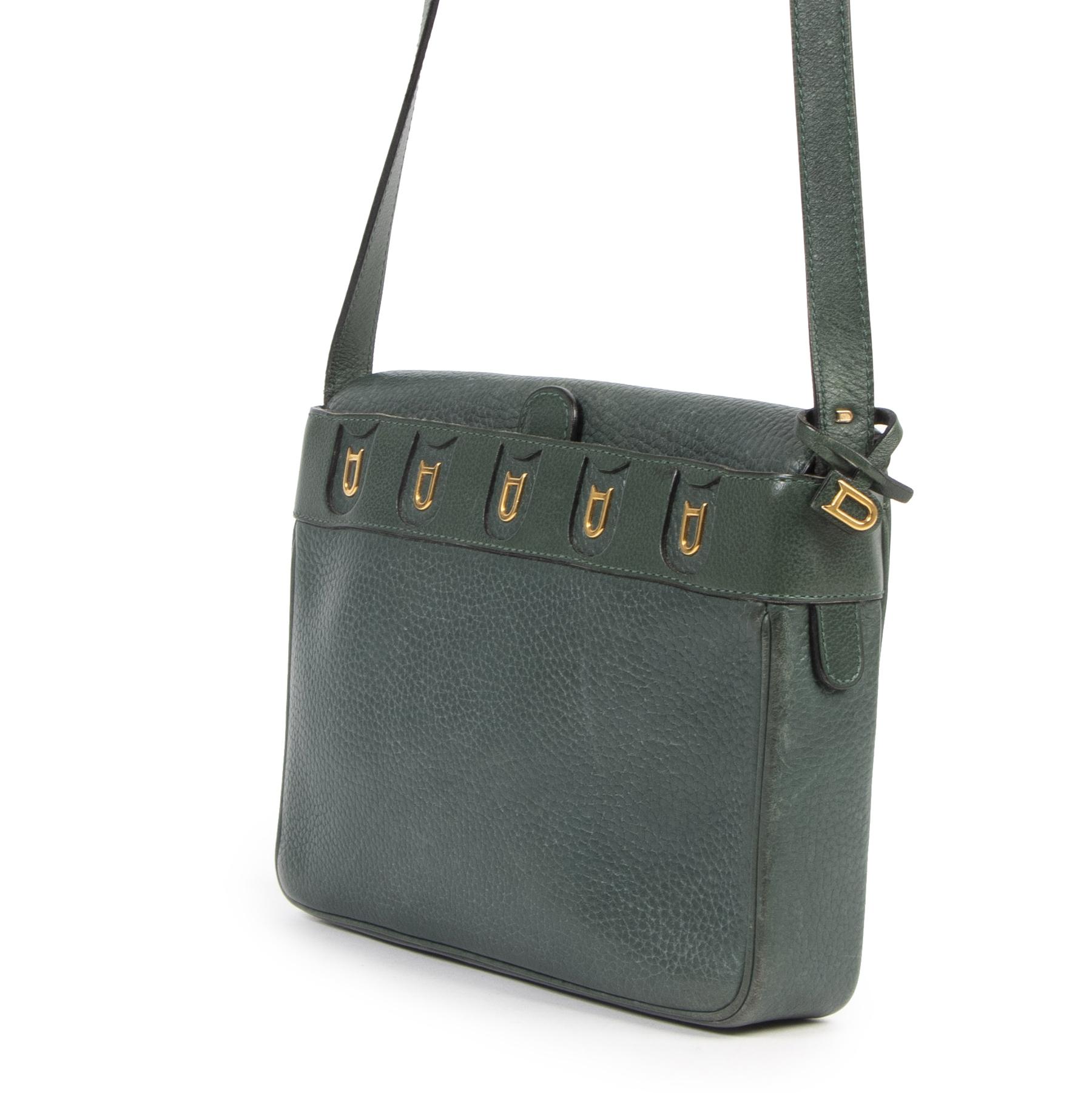 shop safe online Delvaux Green D Crossbody Bag