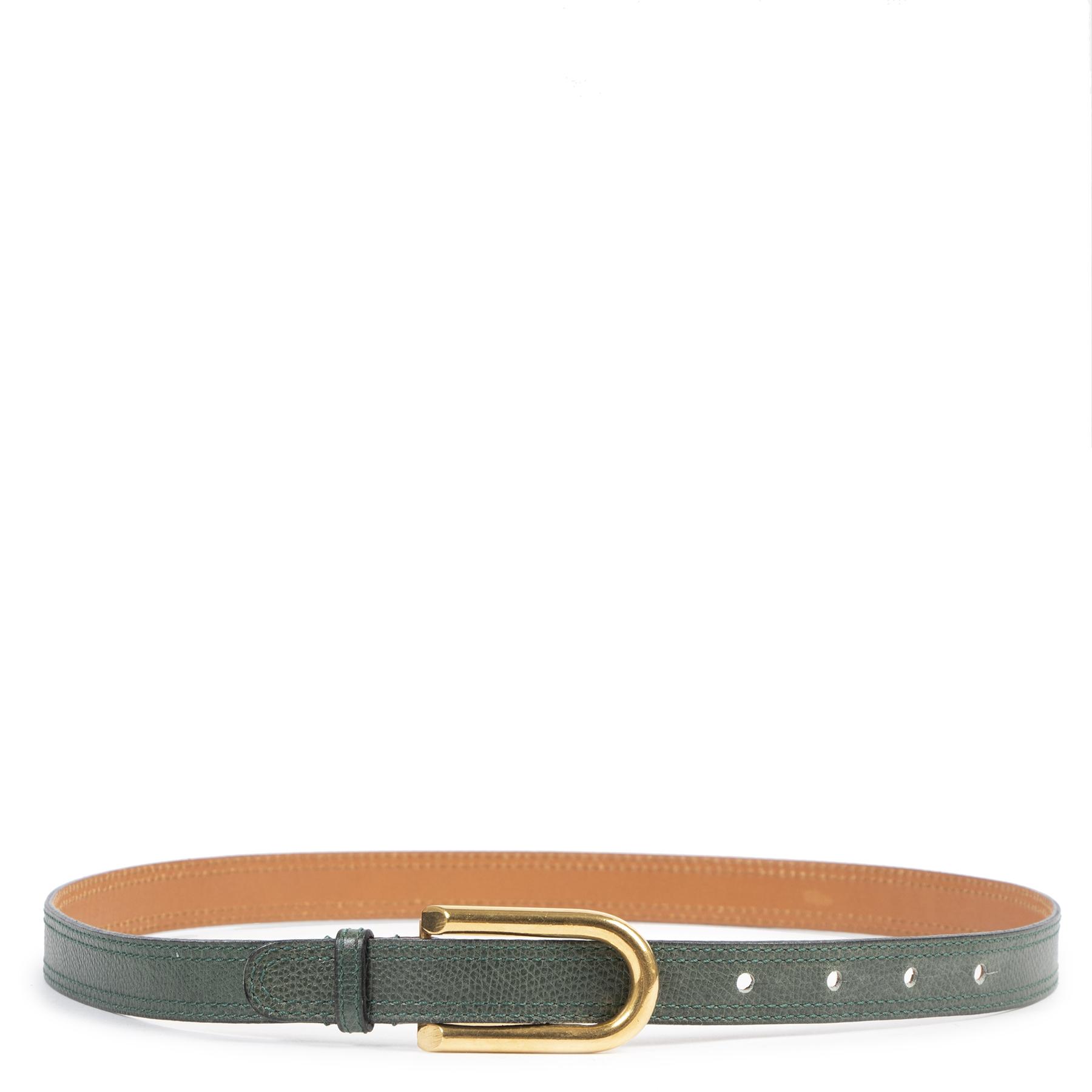 koop veilig online tegen de beste prijs Delvaux Green D Belt - Size 75