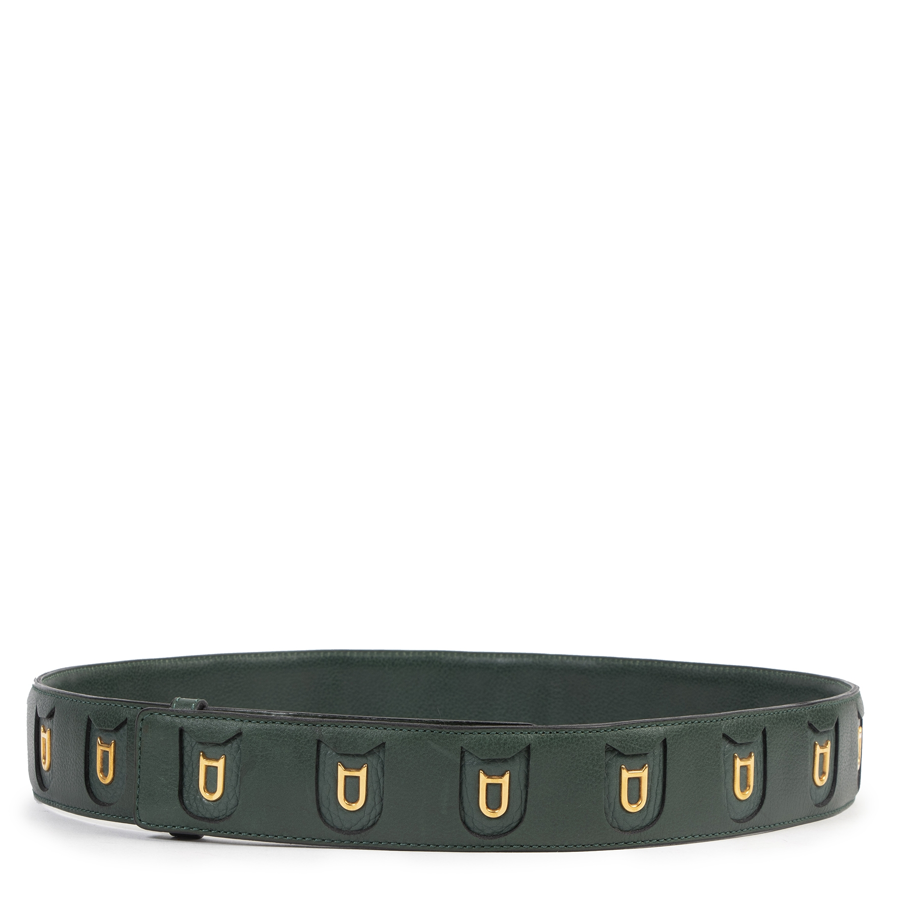 Are you looking for an authentic designer Delvaux Green D Logo Belt