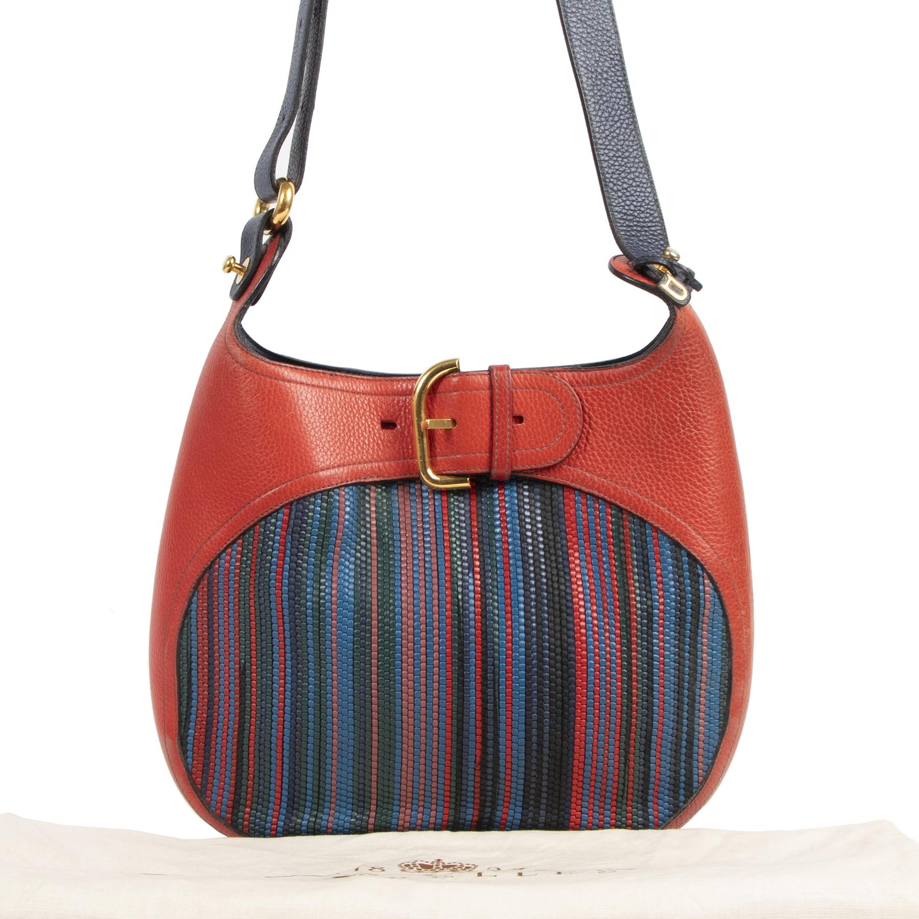 Delvaux Chardonnay Toile de Cuir Multicolor Bag