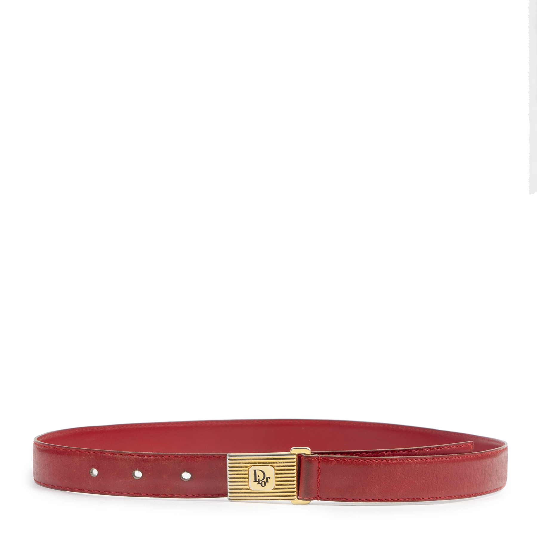 acheter en ligne seconde main Dior Red Belt - Size 75.