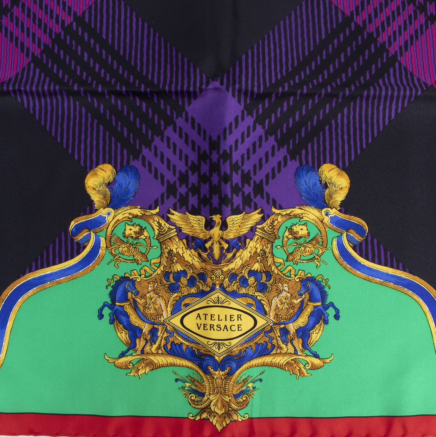 Authentic secondhand Versace Printed Silk-twill Scarfluxury vintage webshop fashion safe secure online shopping