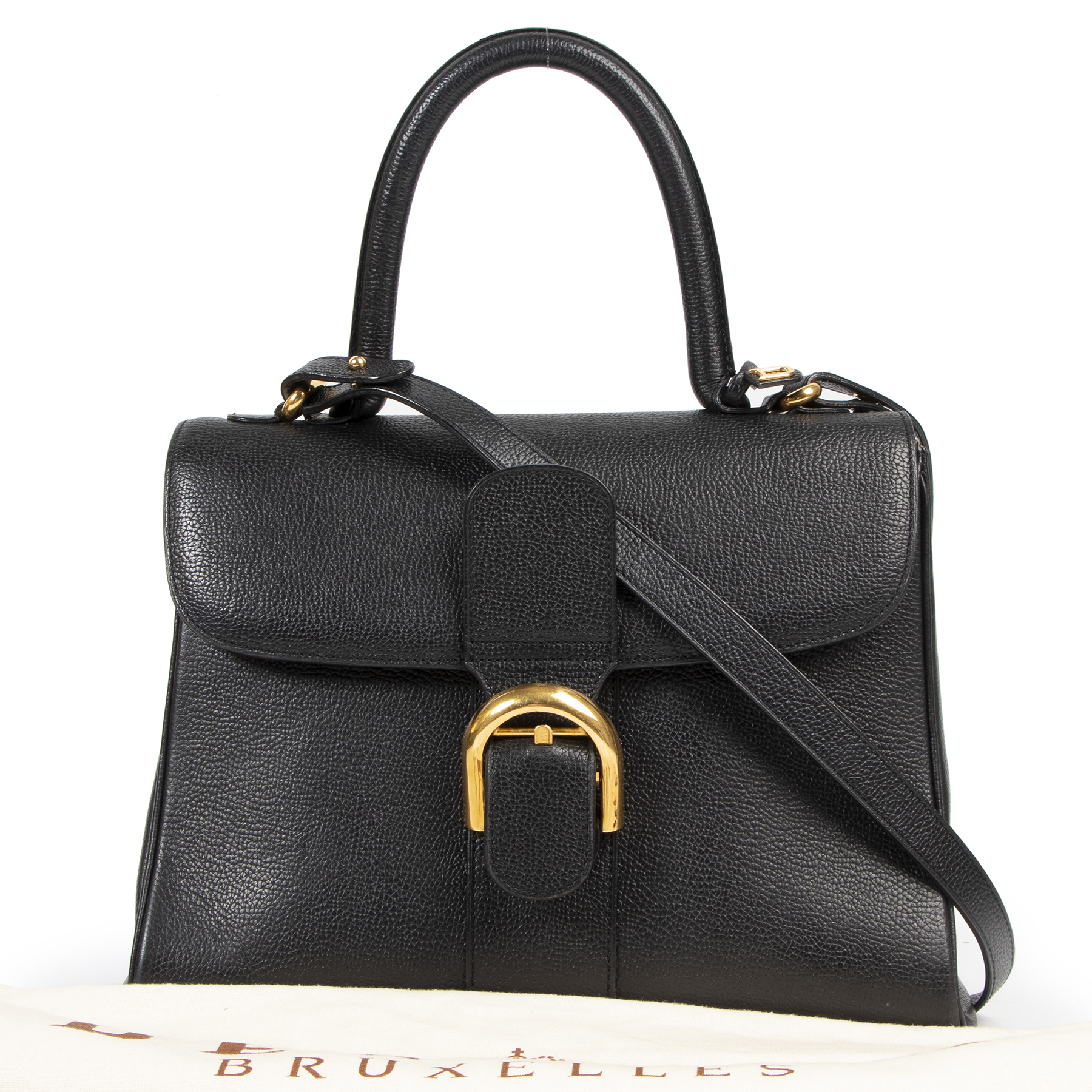 100% authentic designer Delvaux Brillant Black MM for the best price at Labellov