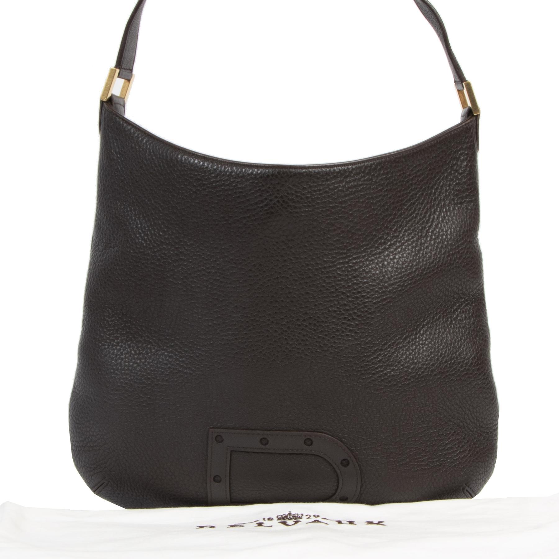 Delvaux Brown Le Louise PM Shoulder Bag