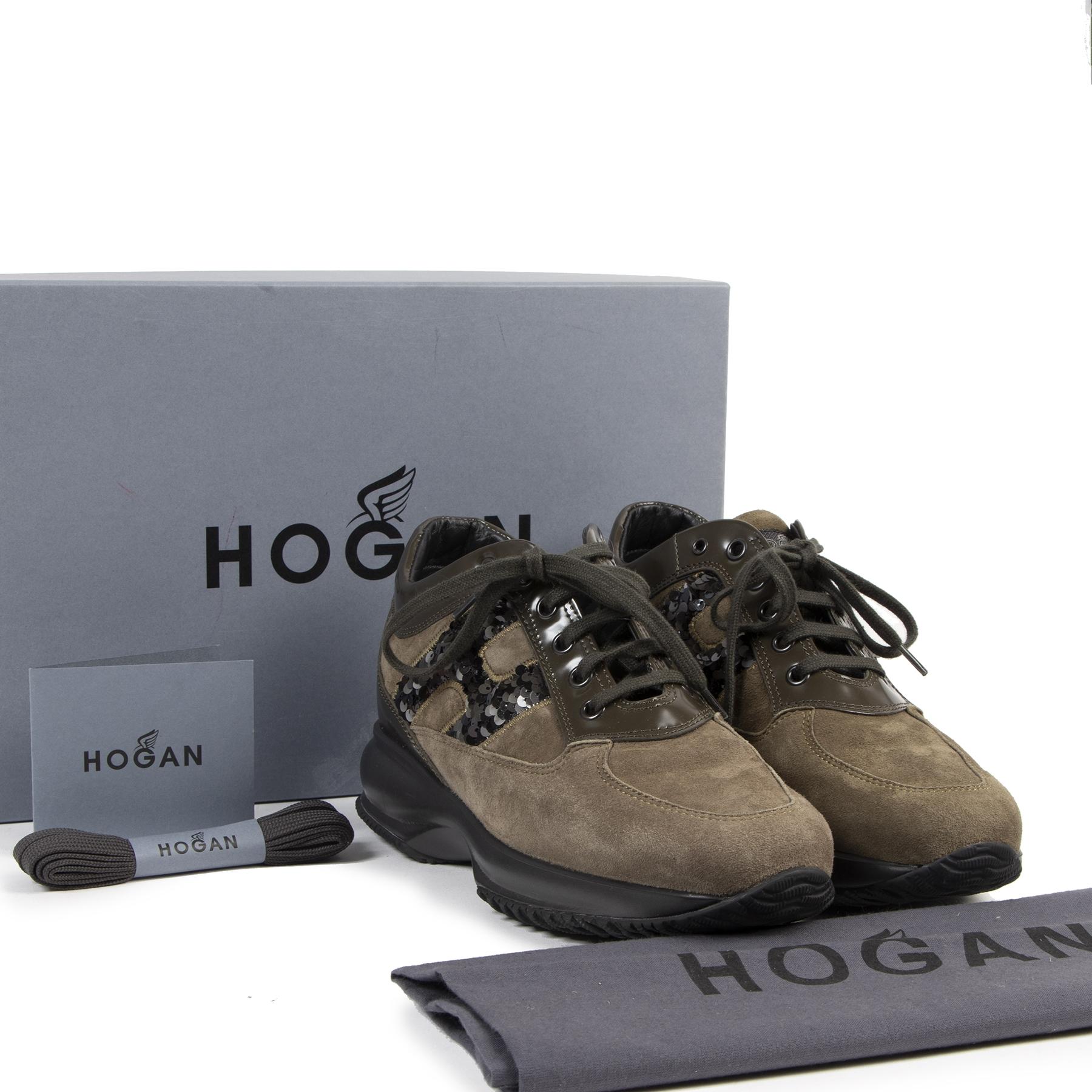 acheter en ligne seconde Hogan Interactive Khaki Sneakers - Size 38,5