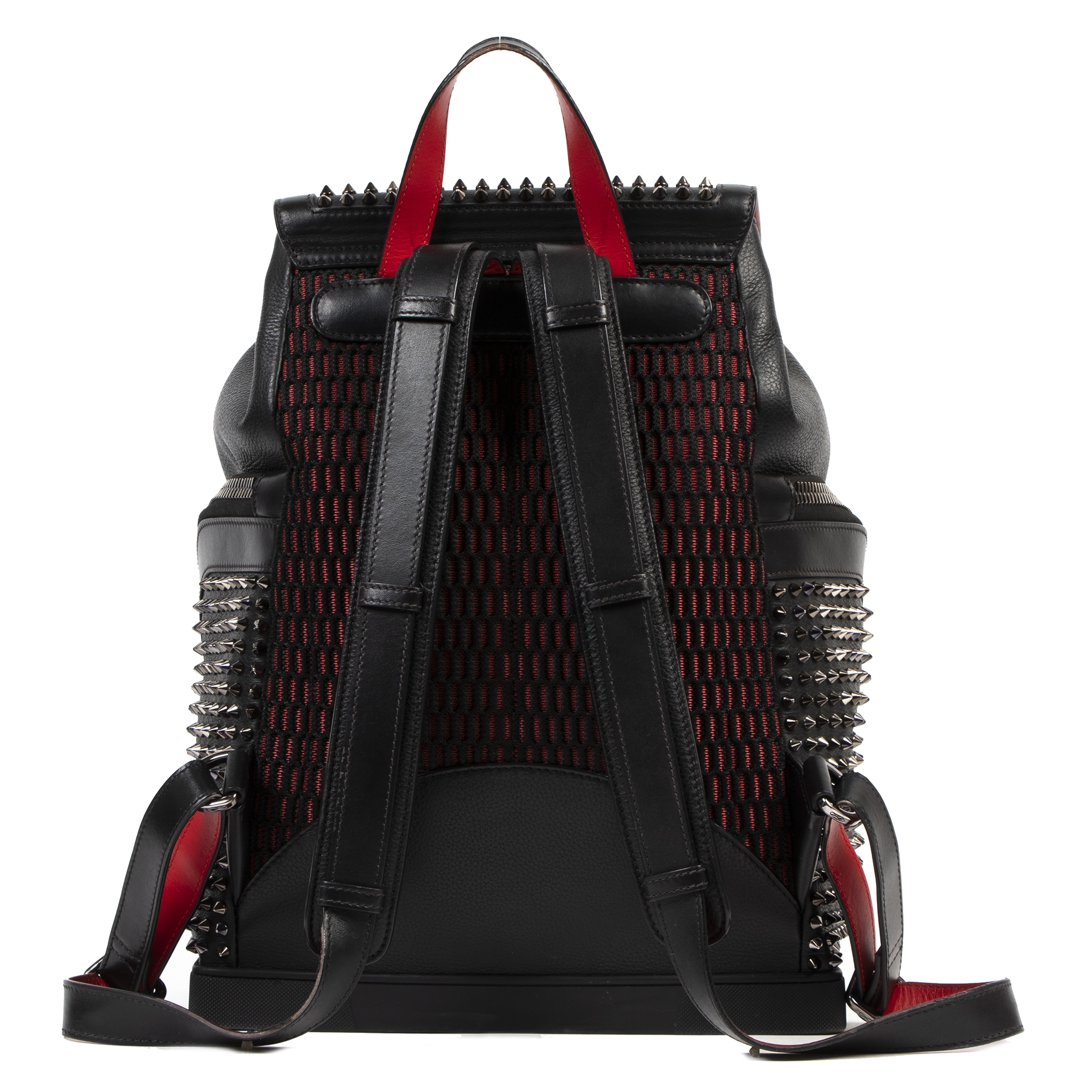 Authentic secondhand Christian Louboutin Spike Studs Explorer Backpack designer bags fashion luxury vintage webshop safe secure online shopping