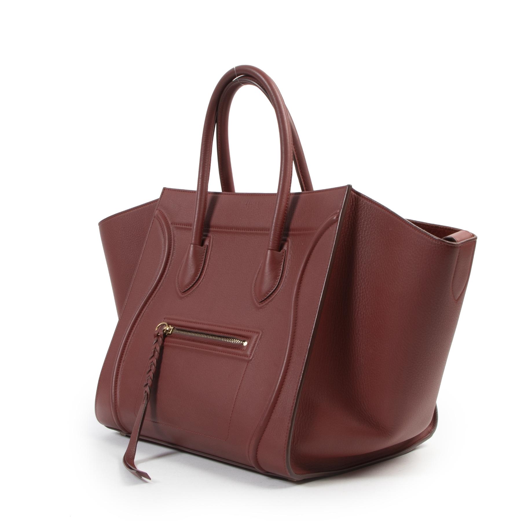 Authentieke tweedehands Celine te koop bij LabelLOV Celine Merlot Red Phantom Luggage Bag