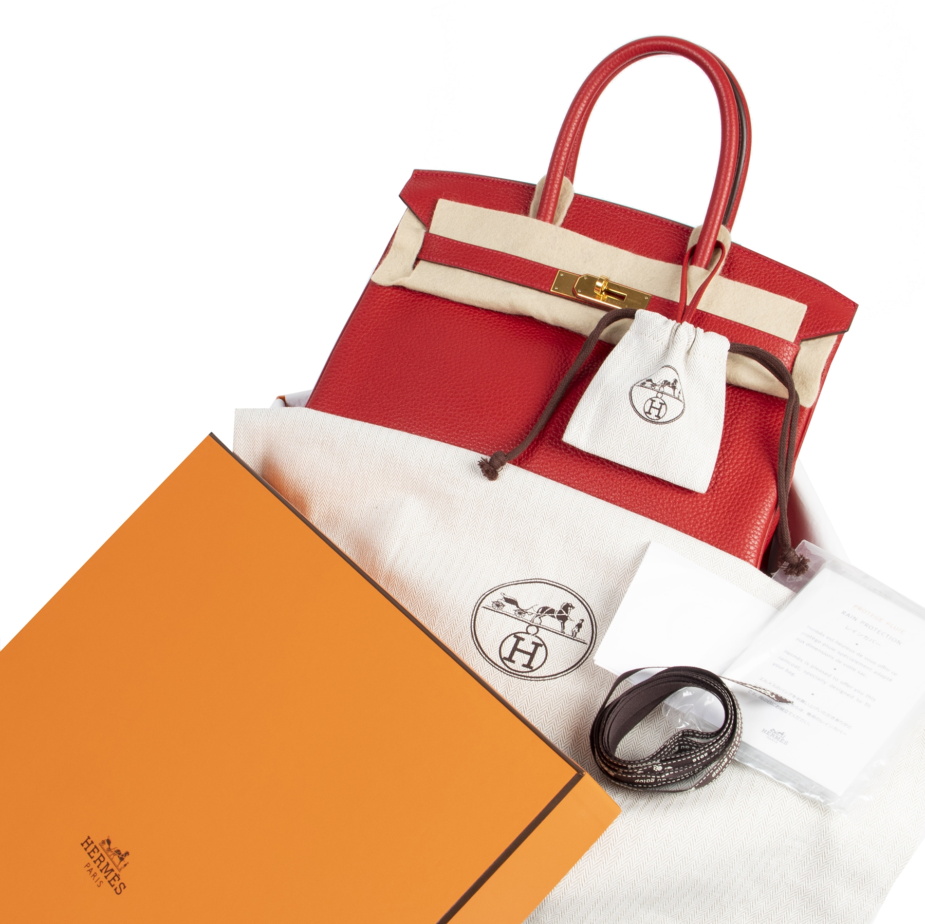 skip the waiting list shop safe online As New Hermes Birkin 30 Rouge Casaque Taurillon Clemence GHW