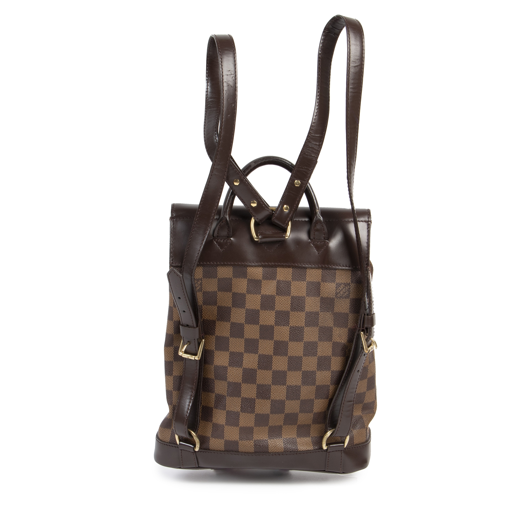 Authentic secondhand Louis Vuitton Soho Damier Ebene Backpack designer bags fashion luxury vintage webshop safe secure online shopping