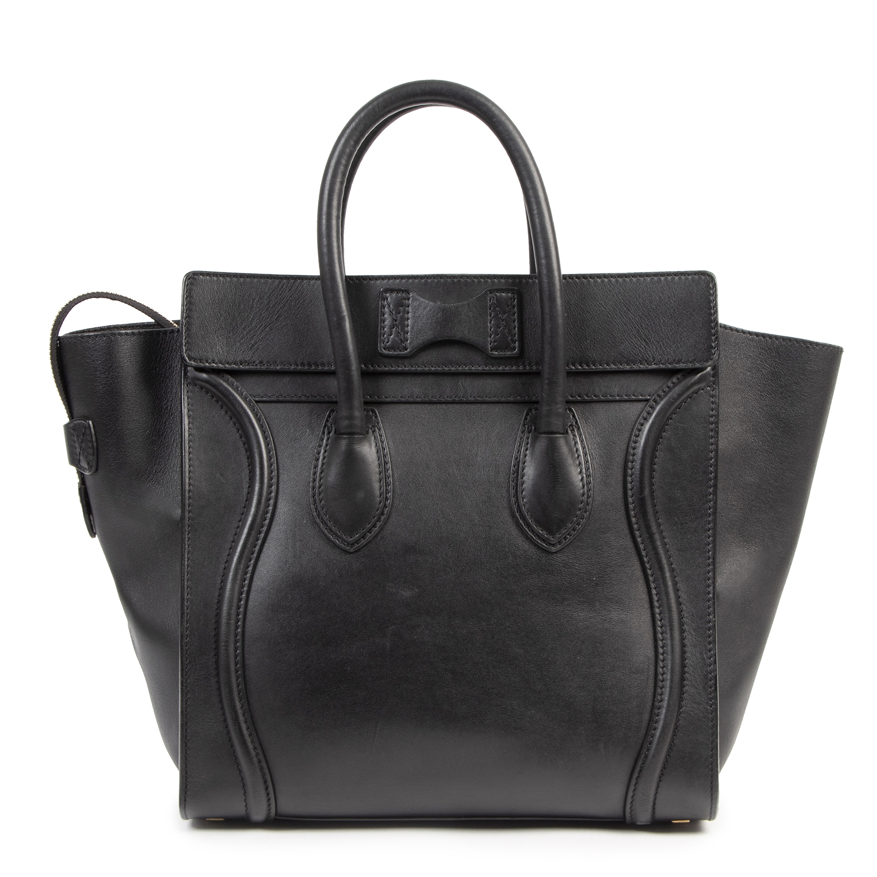 Authentic secondhand Celine Black Phantom Medium Tote designer bags fashion luxury vintage webshop safe secure online shopping worldwide shipping designer high end brands