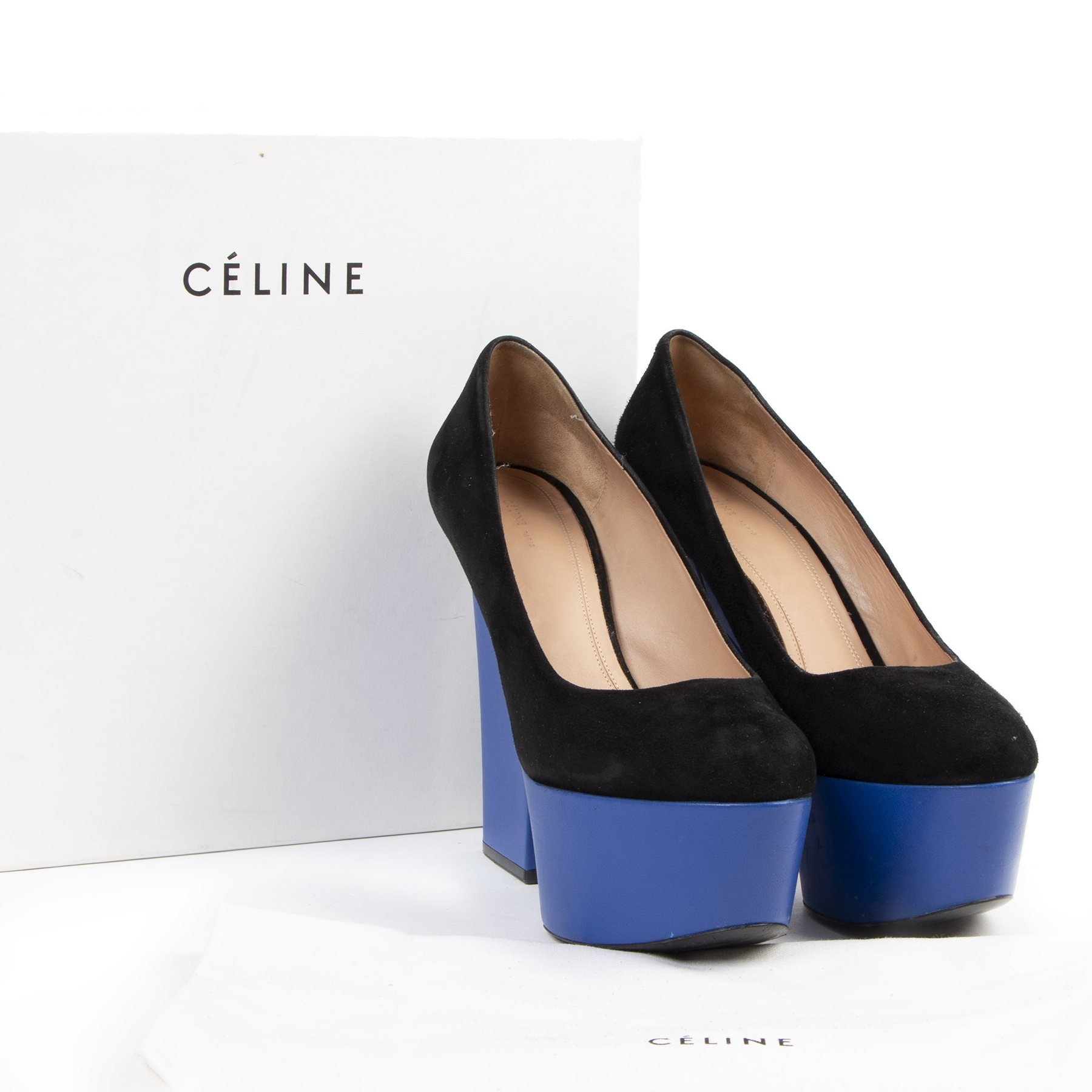 Authentic secondhand Céline 90 Multiples Pumps - Size 40 designer shoes pumps platform heels designer accessories fashion luxury vintage webshop safe secure online shopping worldwide shipping designer high end brands