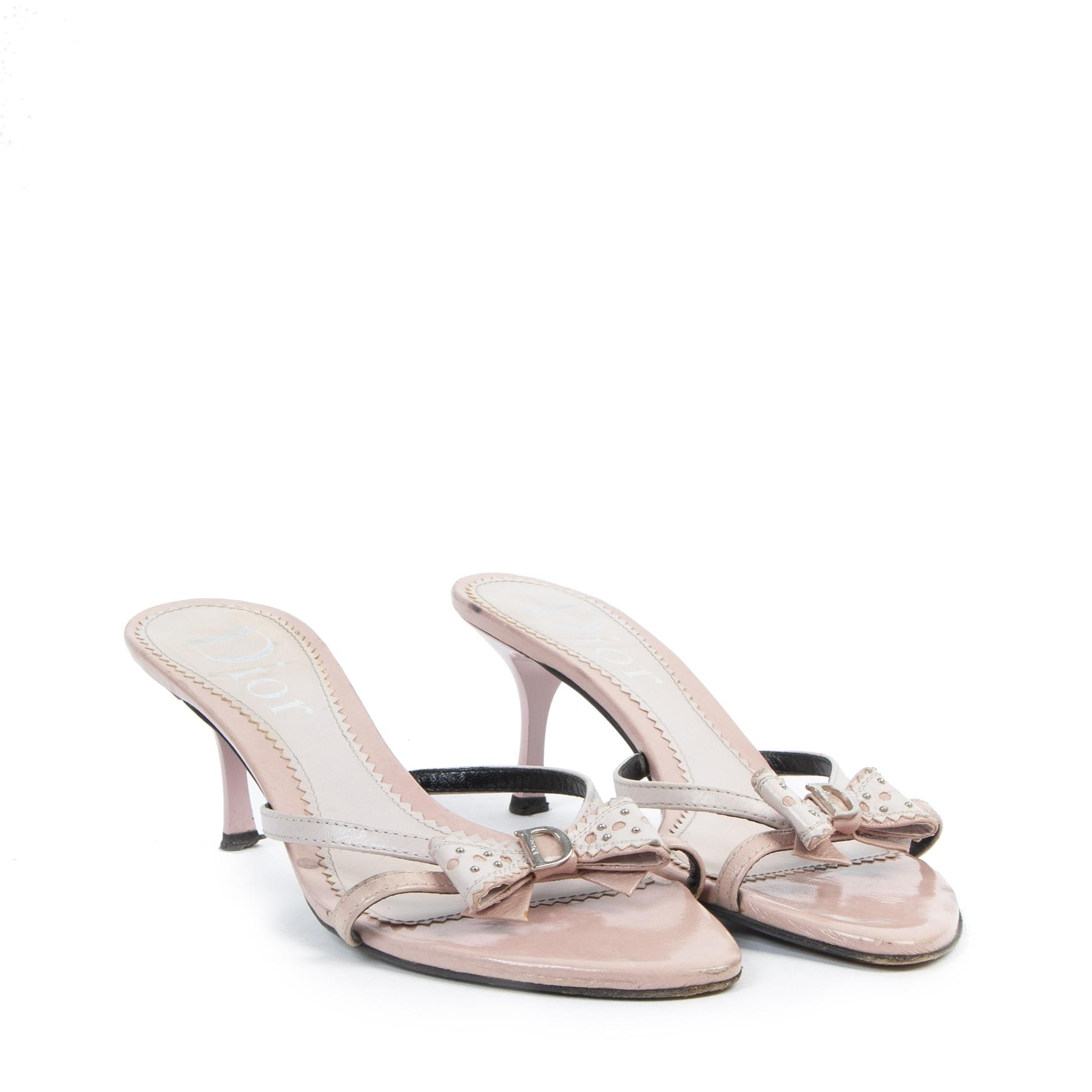 Authentic secondhand Dior Pink Sandal Mules - size 40 designer bags fashion luxury vintage webshop safe secure online shopping worldwide shipping designer high end brands