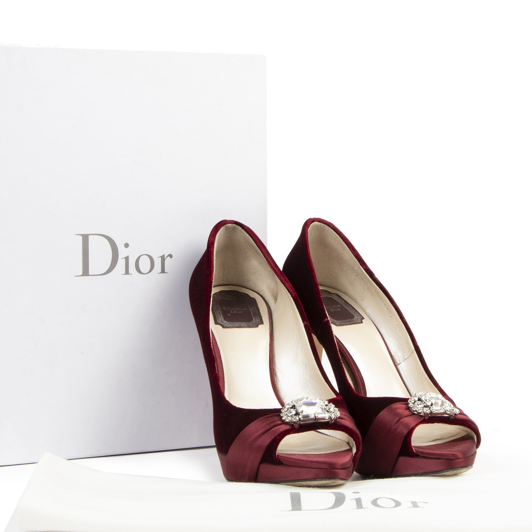 Authentic secondhand Christian Dior Empire Escarpin Crystal Pumps - Size 39 designer bags fashion luxury vintage webshop safe secure online shopping designer high end brands