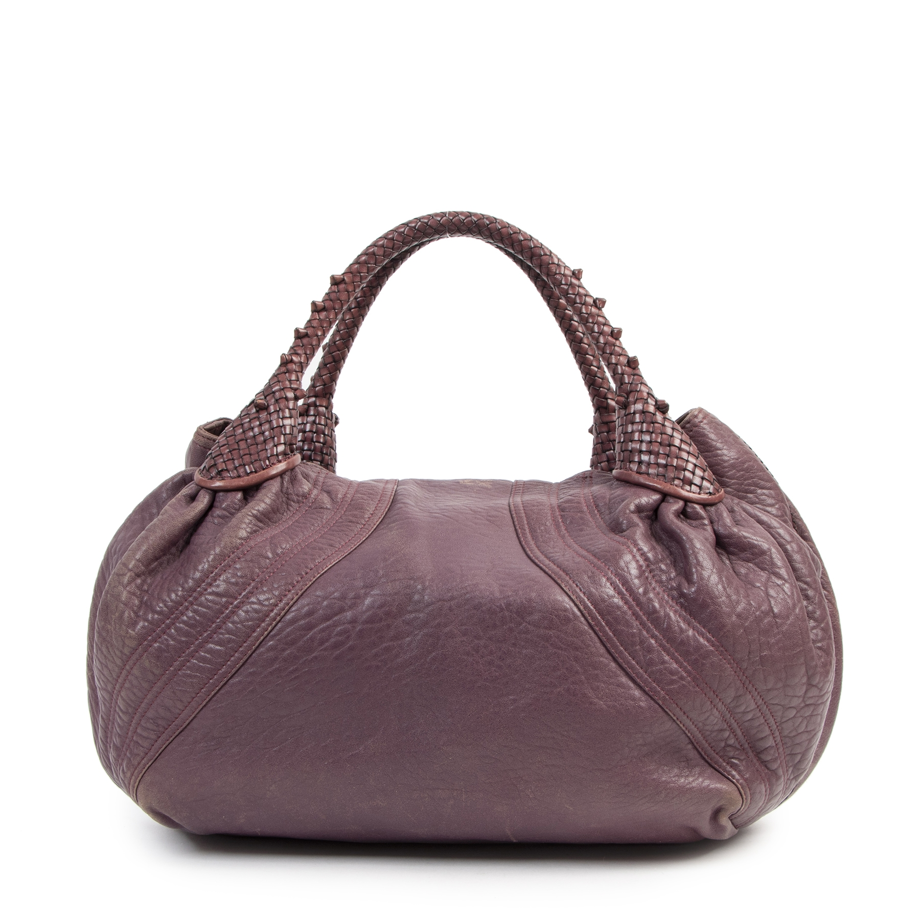 Authentic secondhand Fendi Purple Leather Spy Bag designer bags fashion luxury vintage webshop safe secure online shopping designer high end brands