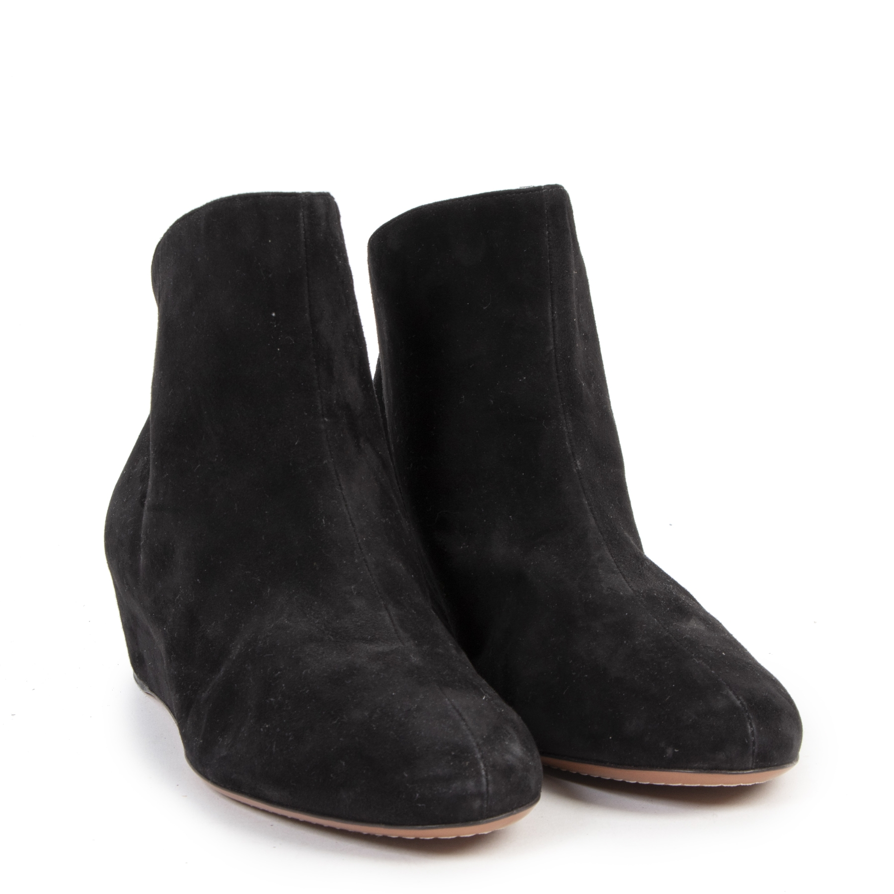 Authentique seconde-main vintage Alaia Black Suede Boots - Size 39 achète en ligne webshop LabelLOV