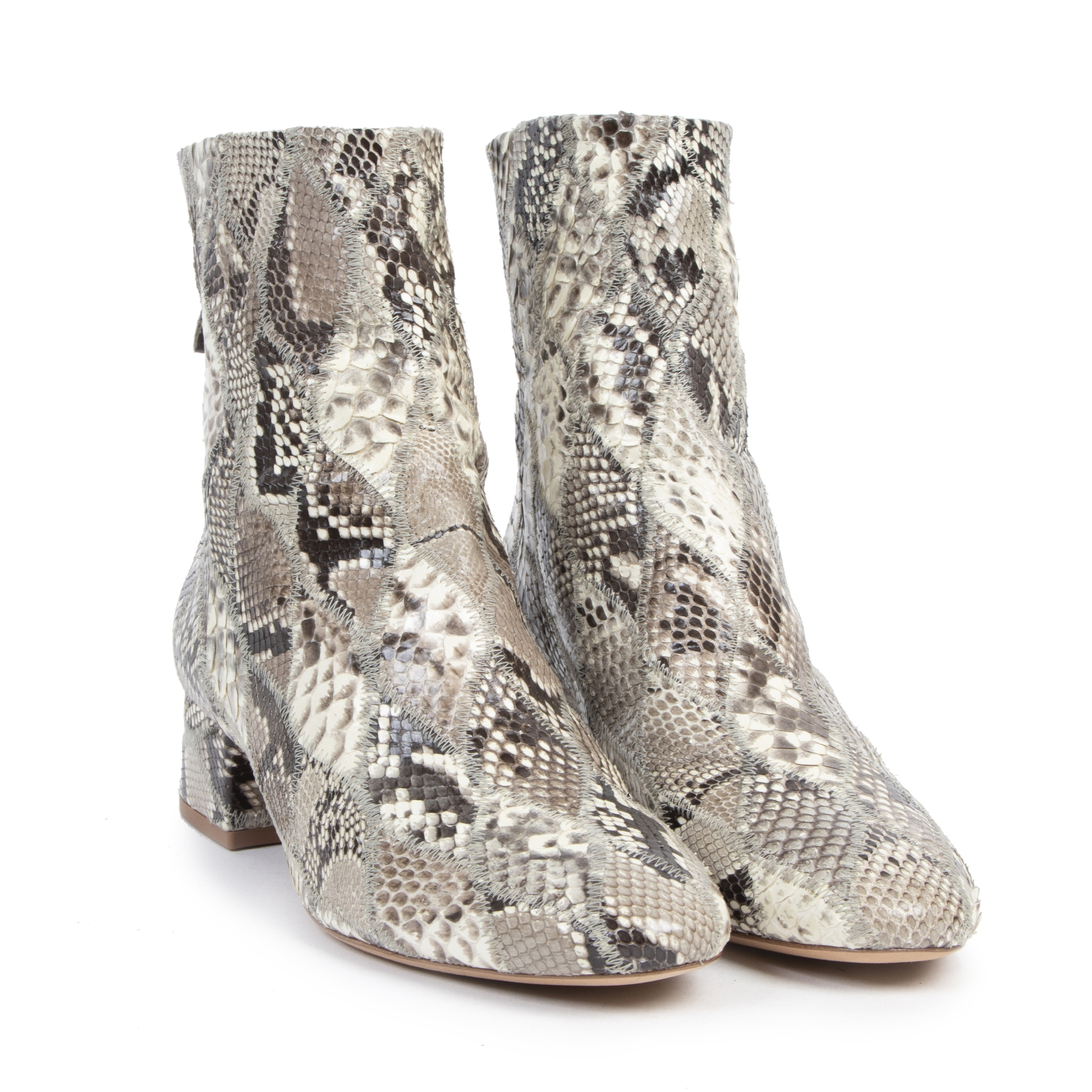 Authentic secondhand Birman Python Leather Boots - Size 38 designer shoes fashion luxury vintage webshop safe secure online shopping designer high end brands