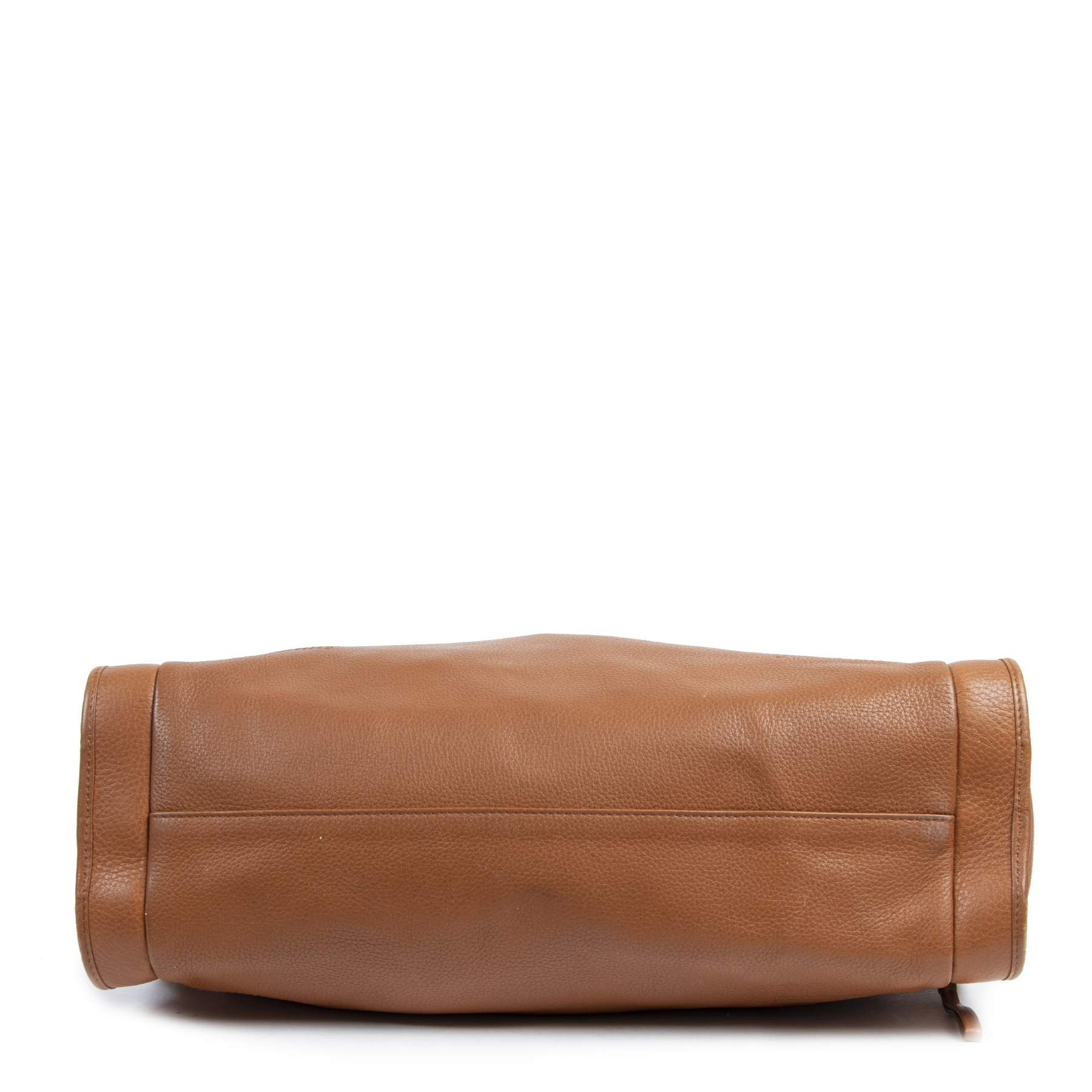 Authentique seconde-main vintage Delvaux Cognac Leather Shoulder Bag  achète en ligne webshop LabelLOV