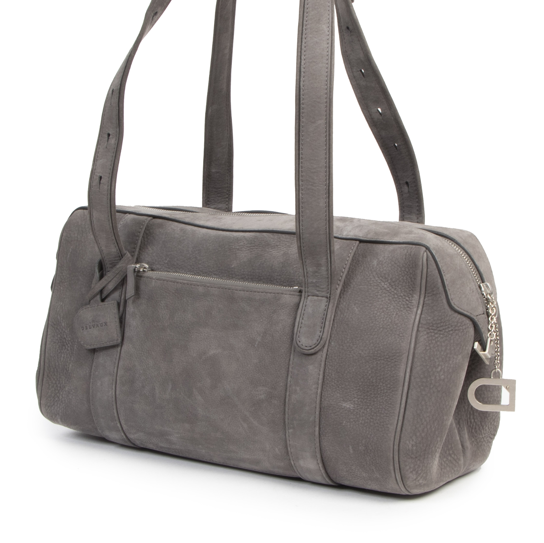 Authentique seconde-main vintage Delvaux Grey Loft Shoulder Bag achète en ligne webshop LabelLOV