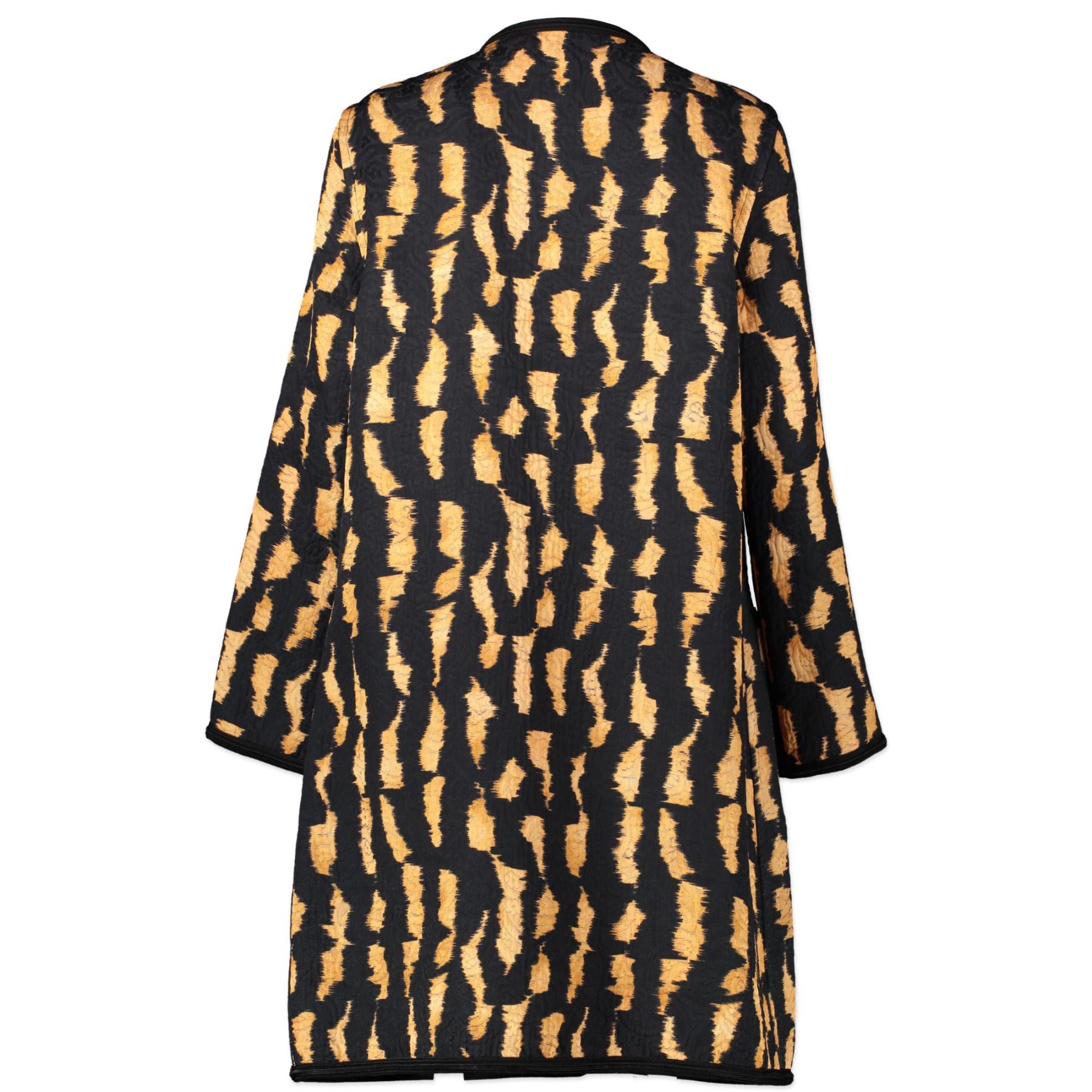 Authentieke Tweedehands Etro Single-Breasted Leopard Coat - Size IT46 juiste prijs veilig online shoppen luxe merken webshop winkelen Antwerpen België mode fashion