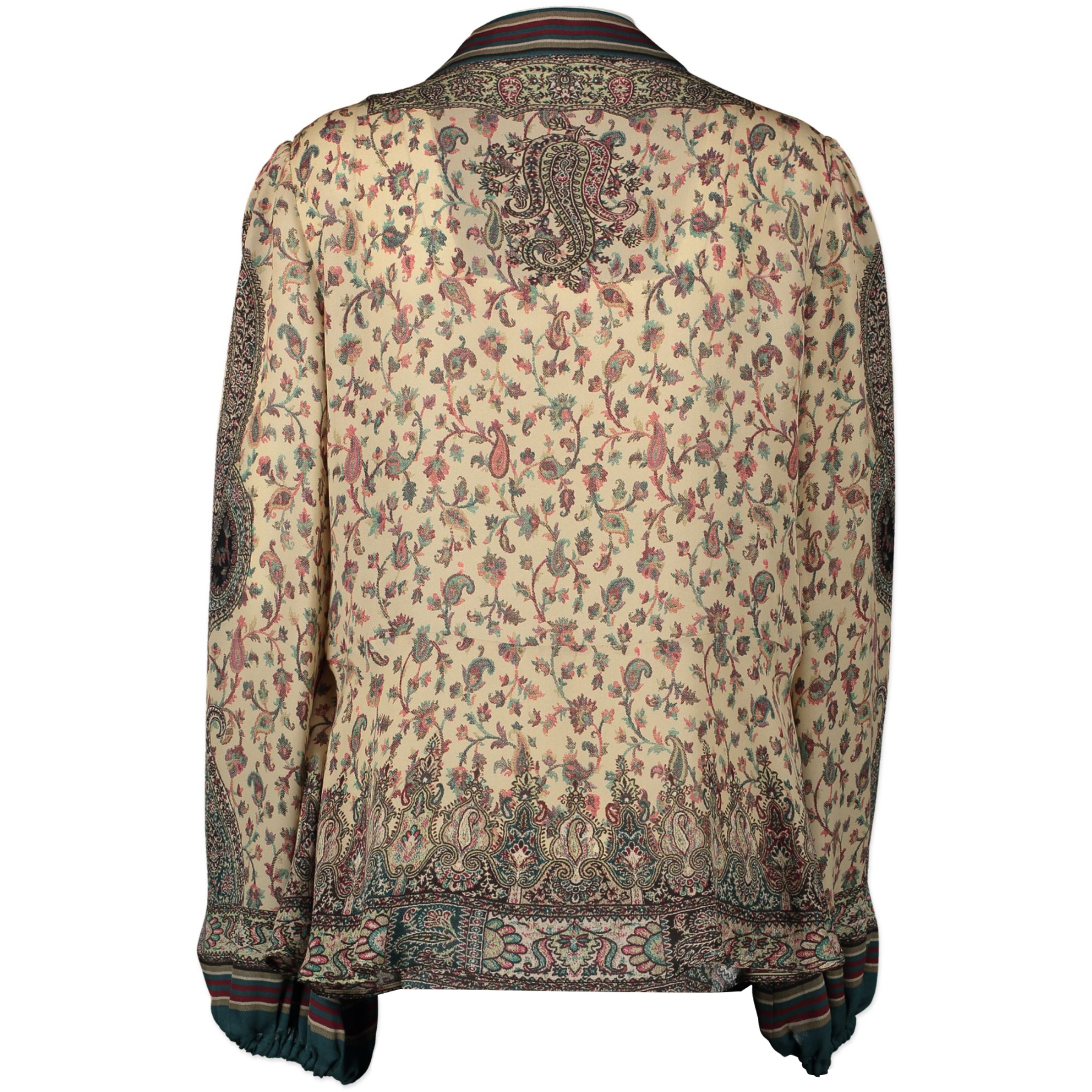 Authentic second-hand vintage Etro Floral Multicolor Silk Blouse - IT46 buy online webshop LabelLOV