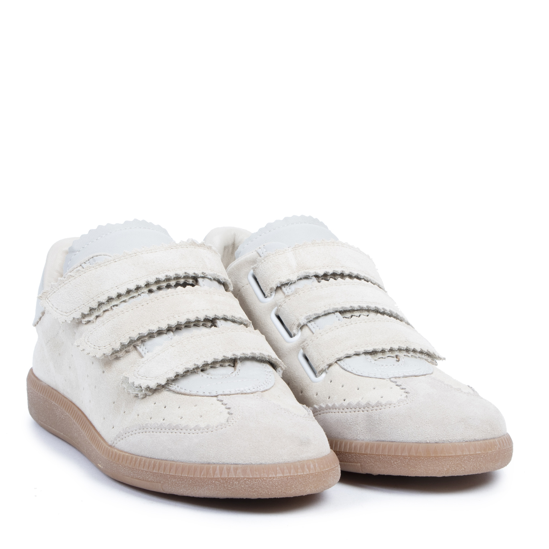 Authentieke tweedehands vintage Isabel Marant Etoile Beth Leather Sneakers - Size 39 koop online webshop LabelLOV