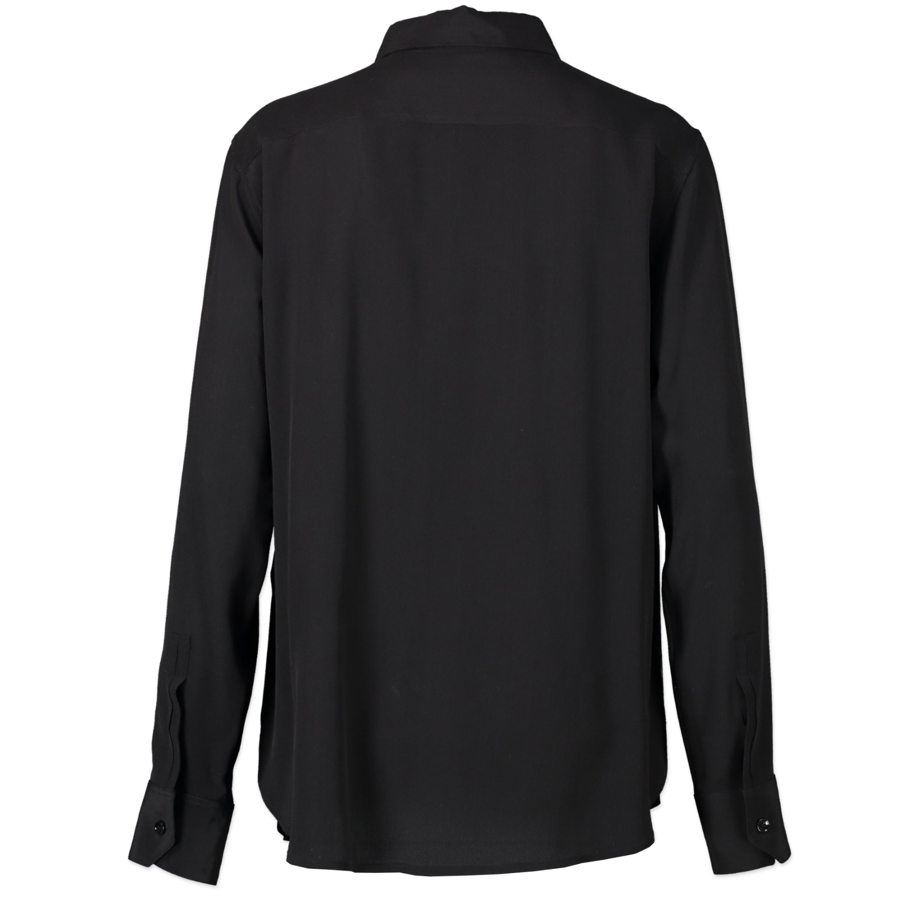 Authentic secondhand Saint Laurent Black Silk Blouse - FR42 designer clothing fashion luxury vintage webshop safe secure online shopping designer high end brands