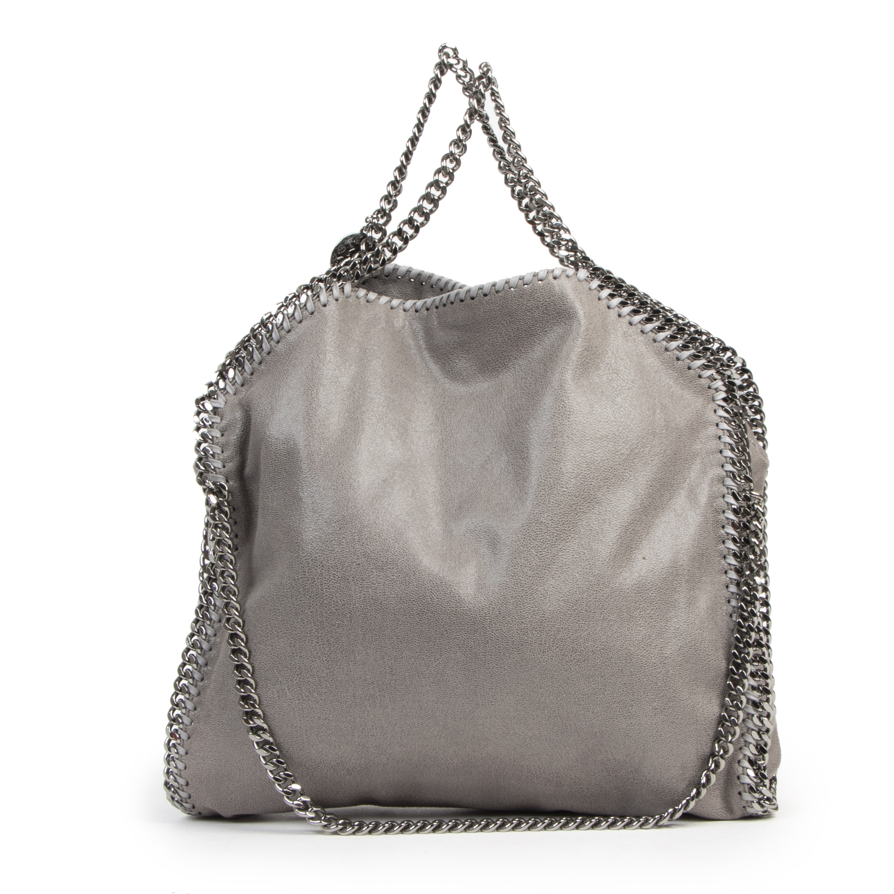 Authentic secondhand Stella McCartney Grey Falabella Shoulder Bag designer bags fashion luxury vintage webshop safe secure online shopping high end brands