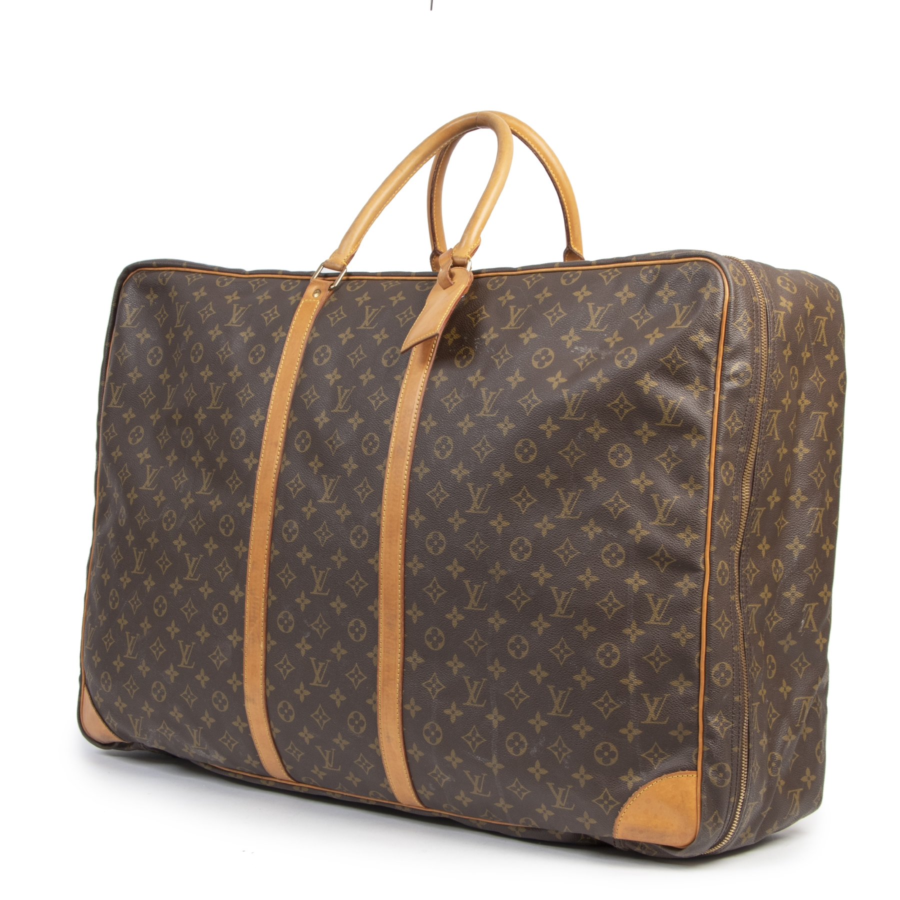 Authentieke tweedehands vintage Louis Vuitton Alize LV Monogram Travel Bag koop online webshop LabelLOV