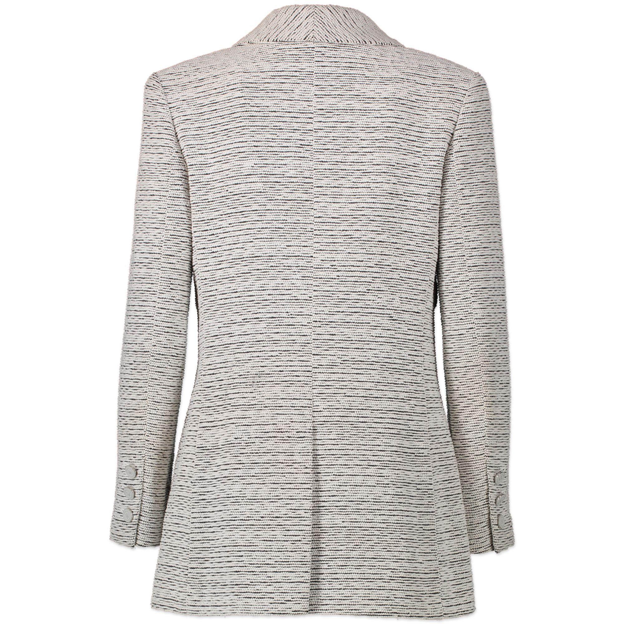 Chanel White Textured Blazer pour le meilleur prix chez Labellov à Anvers Belgique