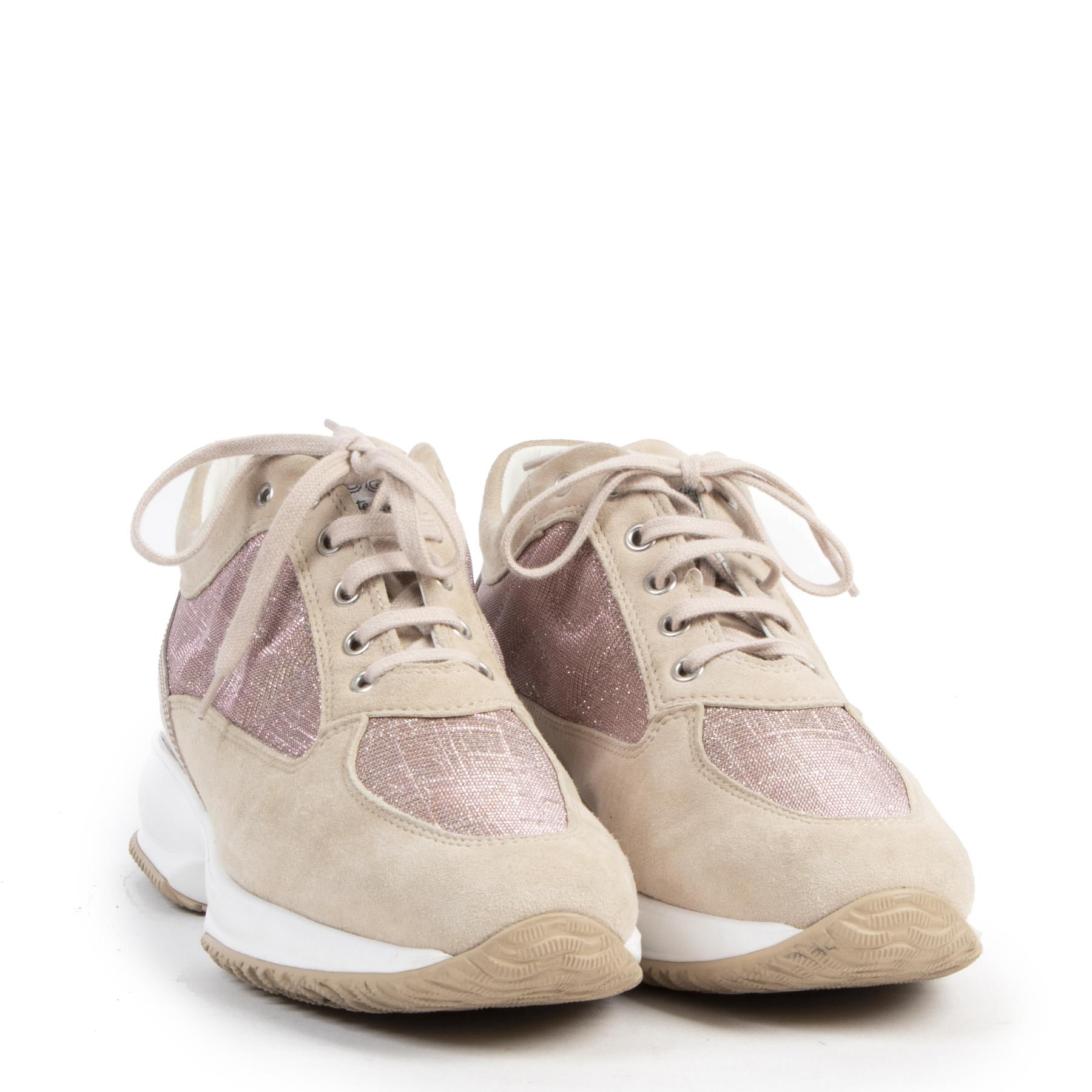 Authentieke tweedehands vintage Hogan Suede Pink Interactive Sneakers - Size 39,5 koop online webshop labelLOV