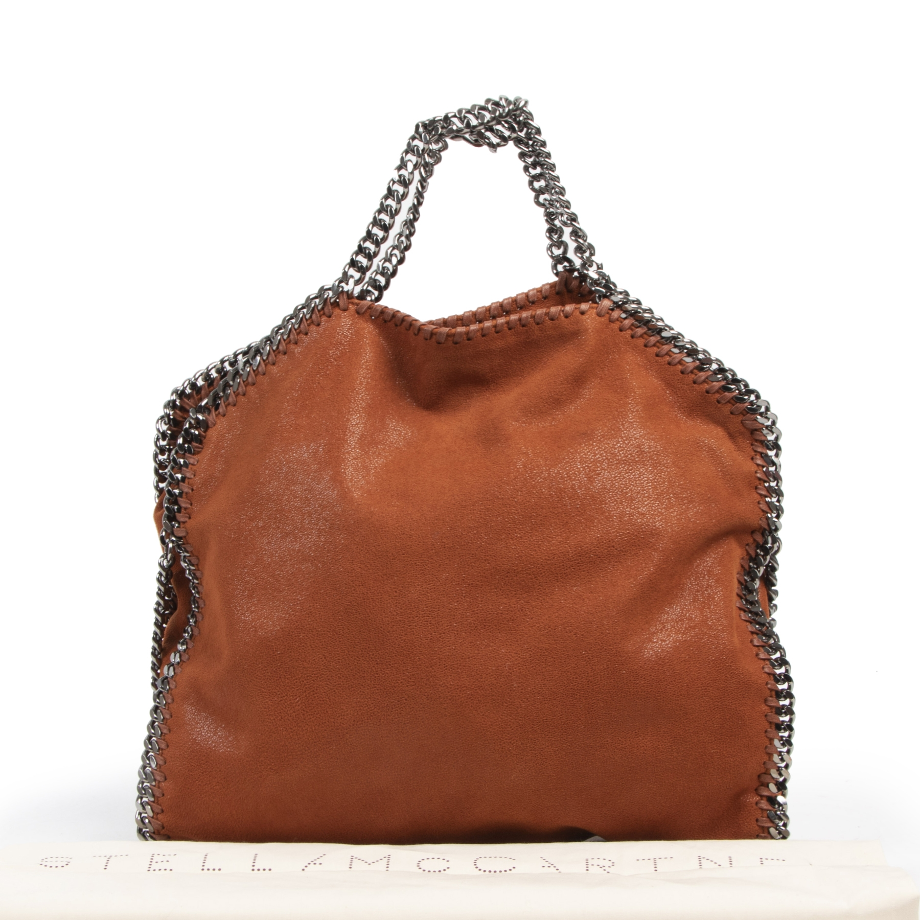 Authentic second-hand vintage Stella McCartney Orange Leather Falabella Tote buy online webshop LabelLOV