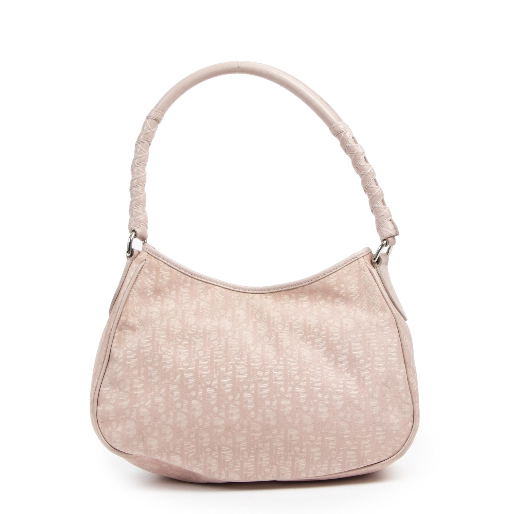 Authentique seconde-main vintage Christian Dior Monogram Canvas Dusty Pink Shoulder Bag achète en ligne webshop LabelLOV