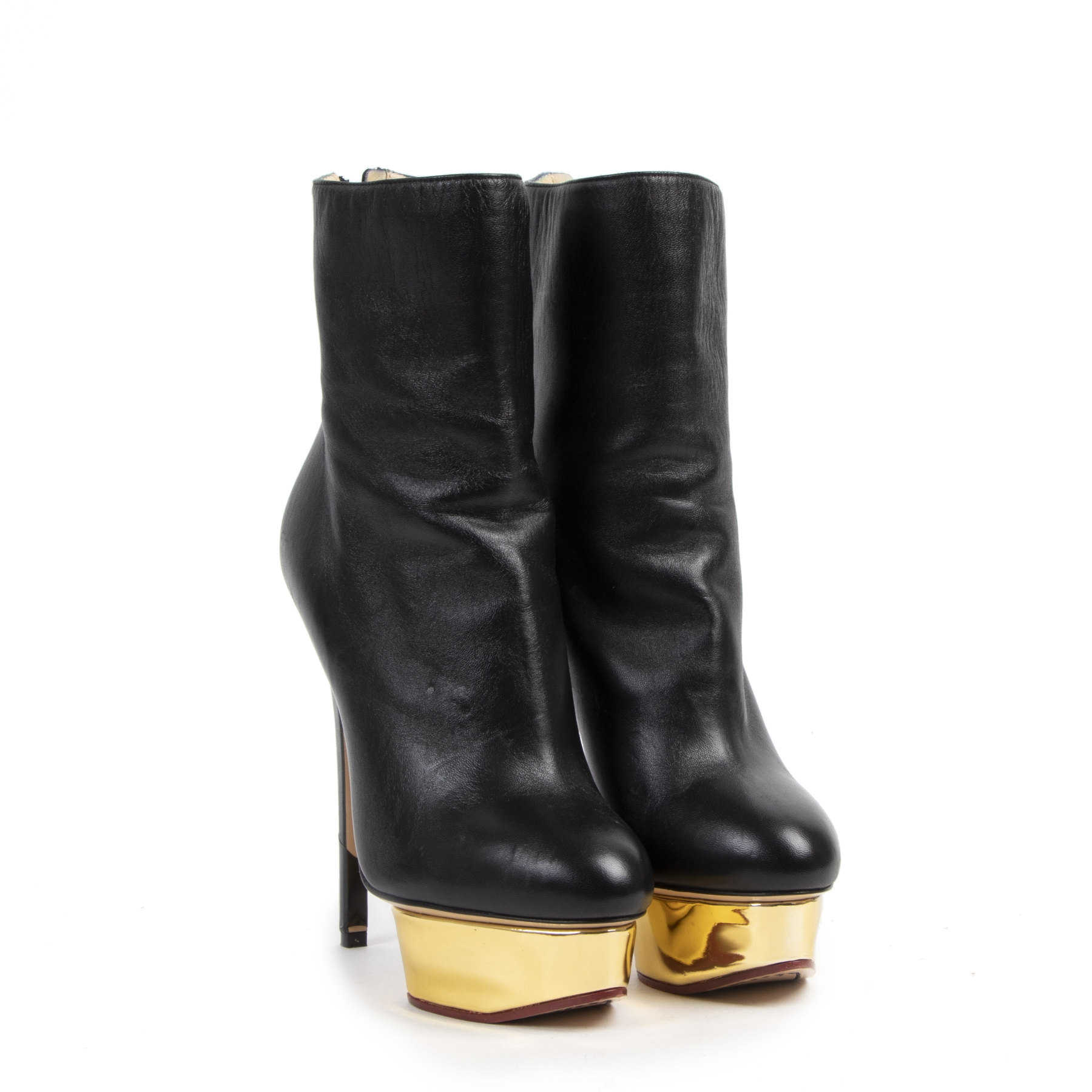 Authentique seconde-main vintage Sophia Webster Black Leather Platform Ankle Boots - Size 37 achète en ligne webshop LabelLOV