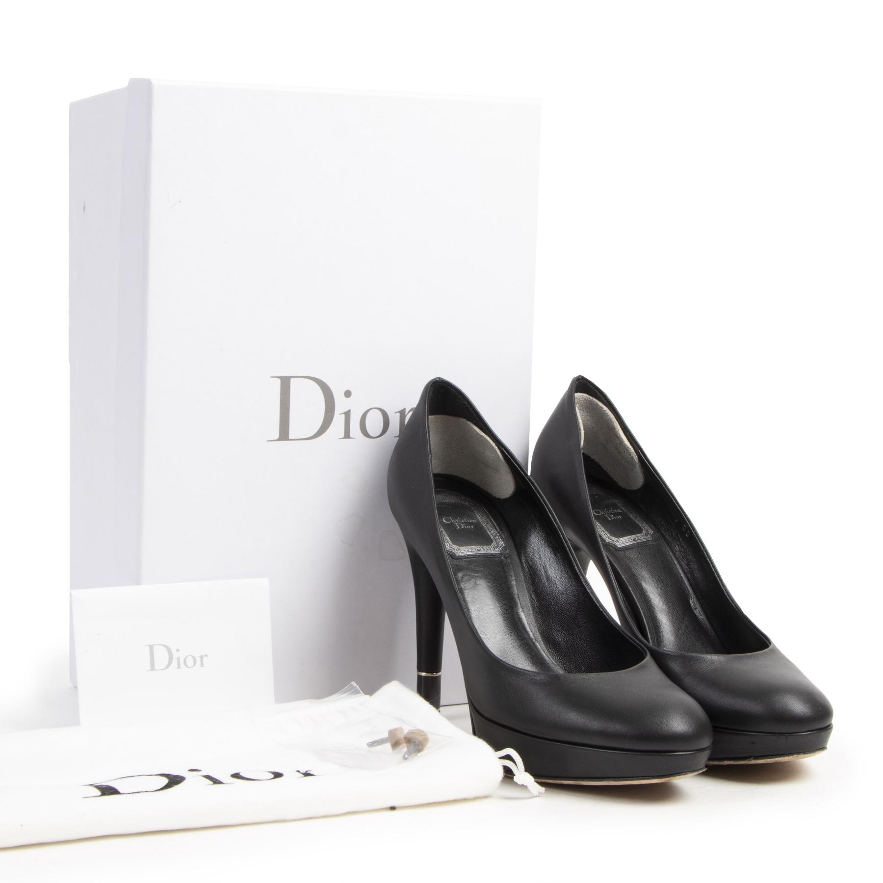 Dior Black Hermitage Platform Heels - Size 36