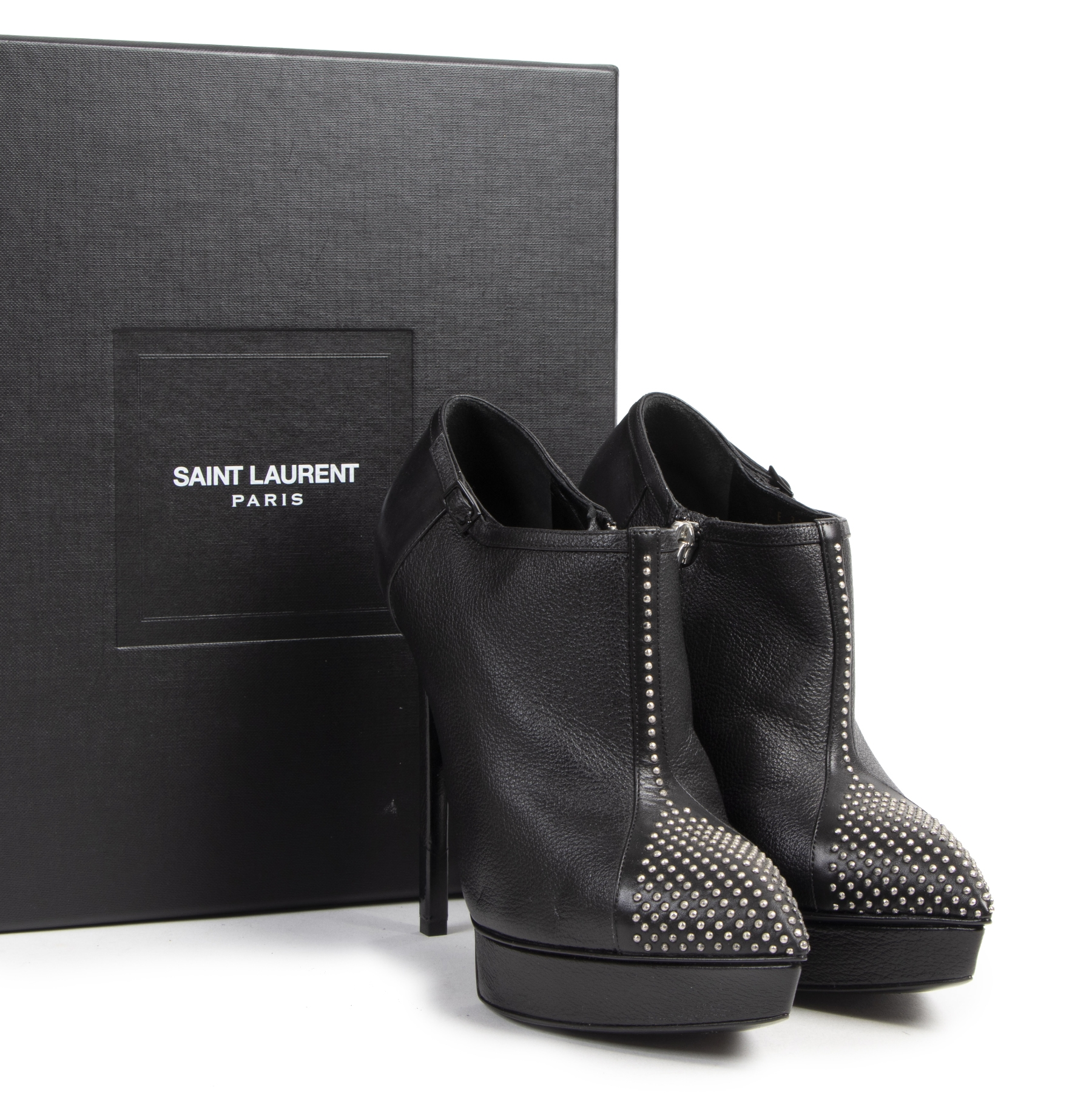 Saint Laurent Studded Ankle Boots - Size 36 - 2020 for the best price at Labellov