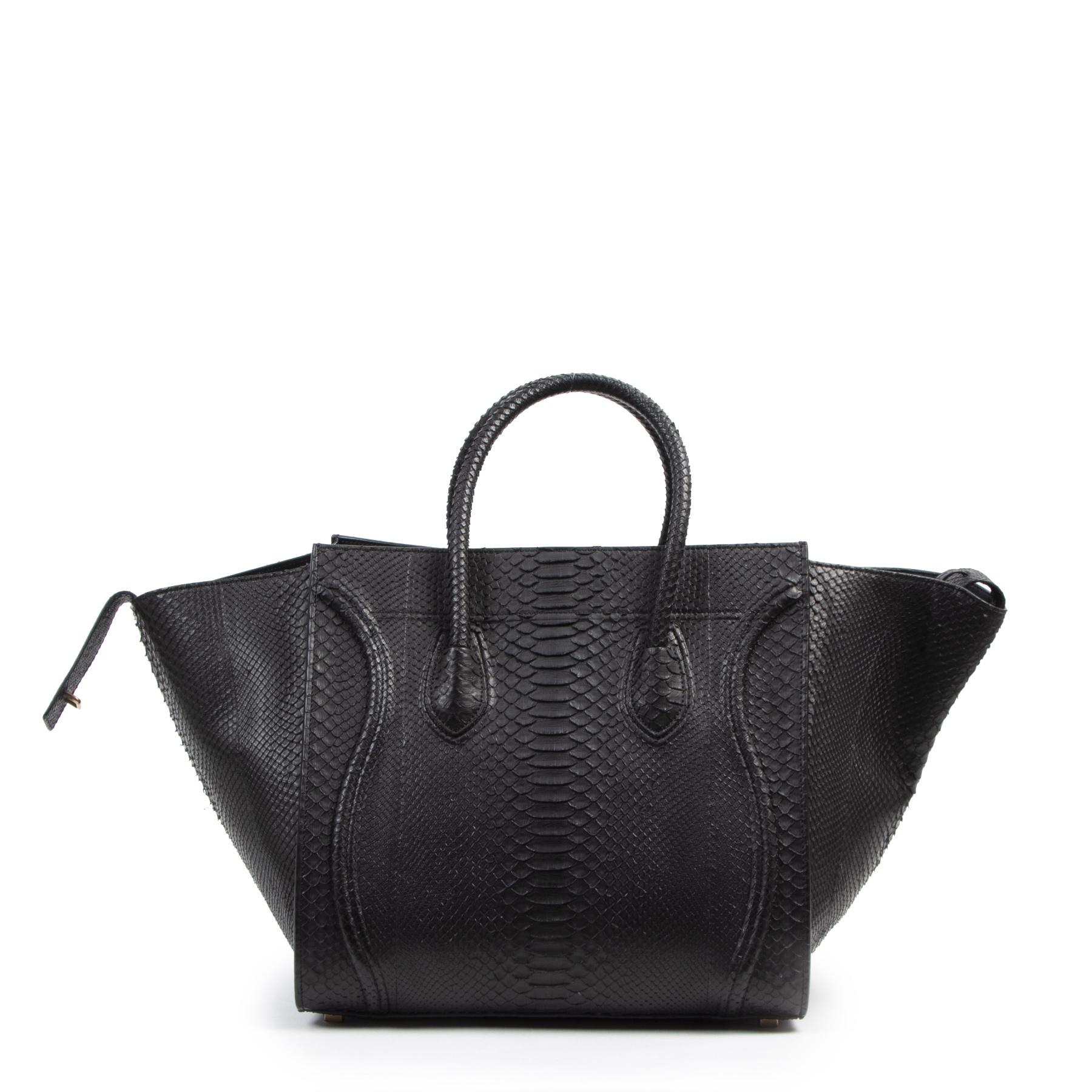 Koop en verkoop uw authentieke designer Celine Black Python Phantom Luggage Tote