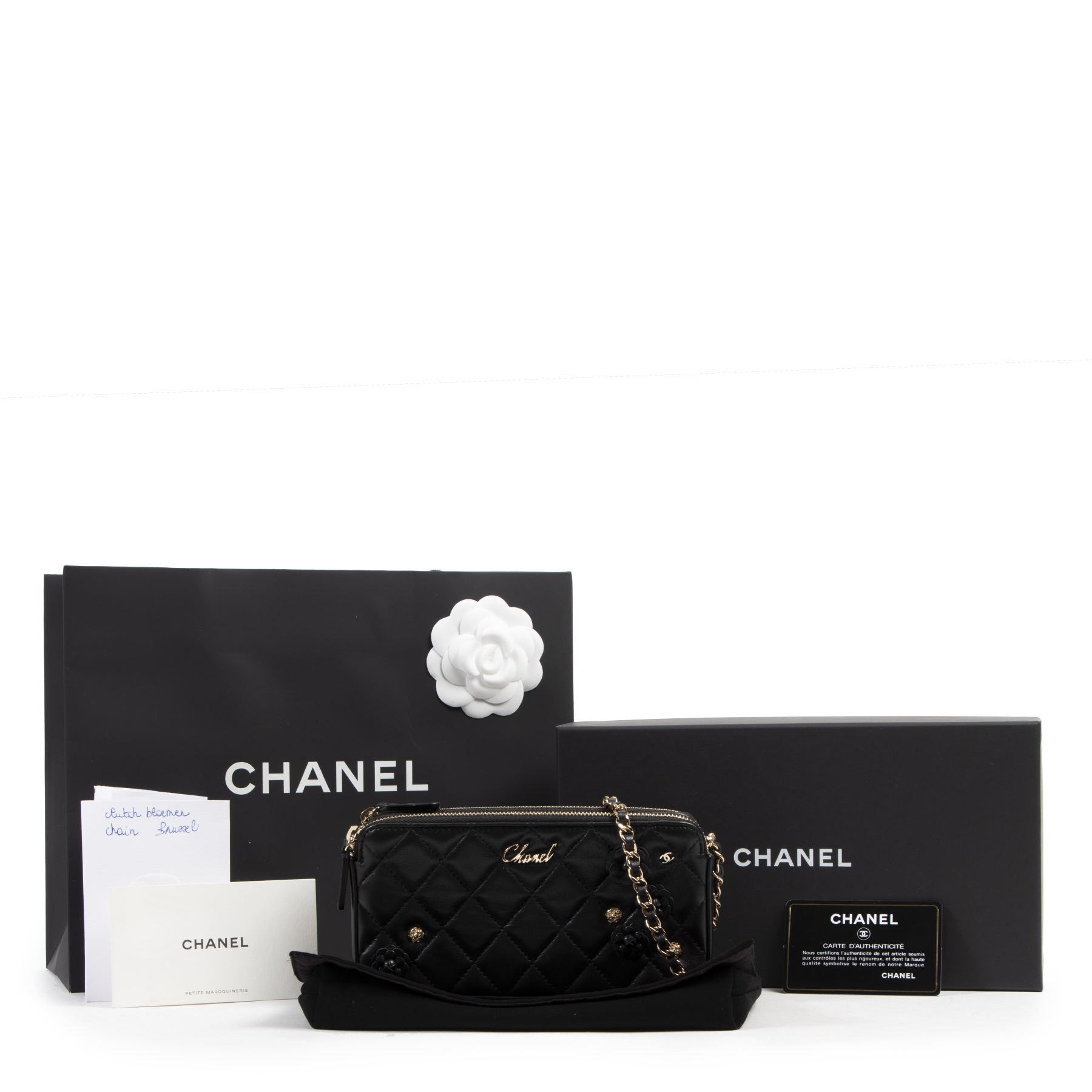 Chanel Limited Black Wallet On Chain Double Zip Bag