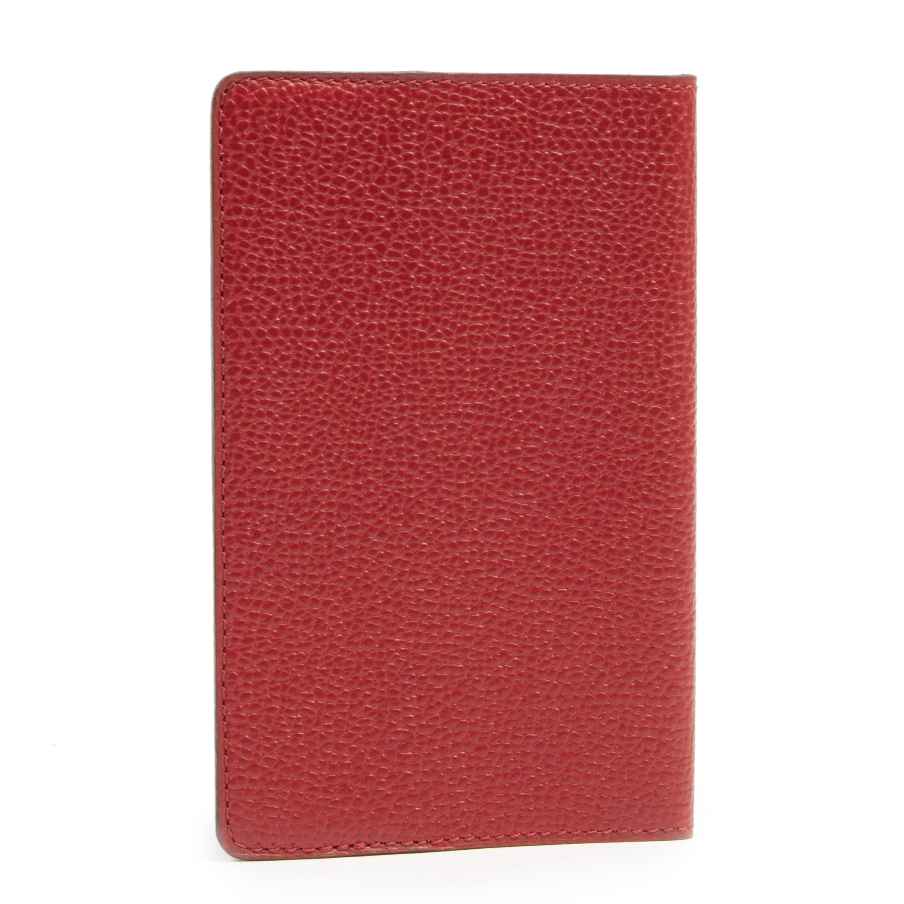 Authentieke tweedehands vintage Delvaux Red Leather Passport Holder koop online webshop LabelLOV