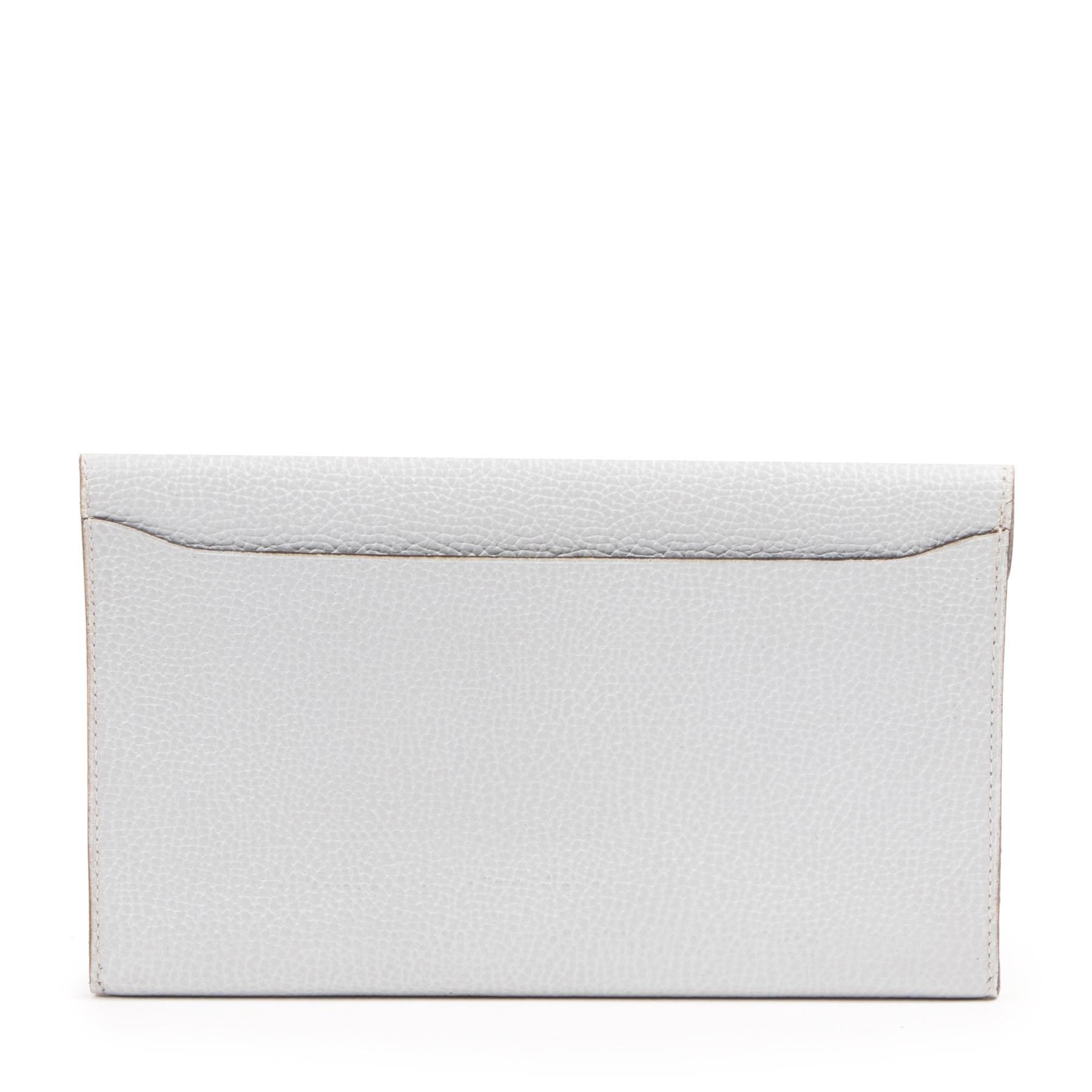 Delvaux Light Blue Leather Wallet