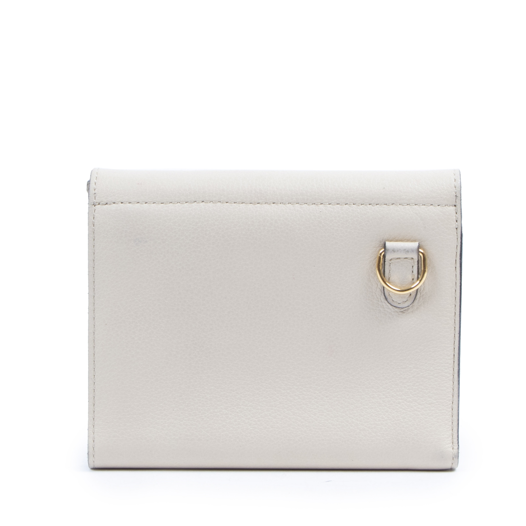 Authentieke tweedehands vintage Delvaux Cream Leather Wallet koop online webshop LabelLOV