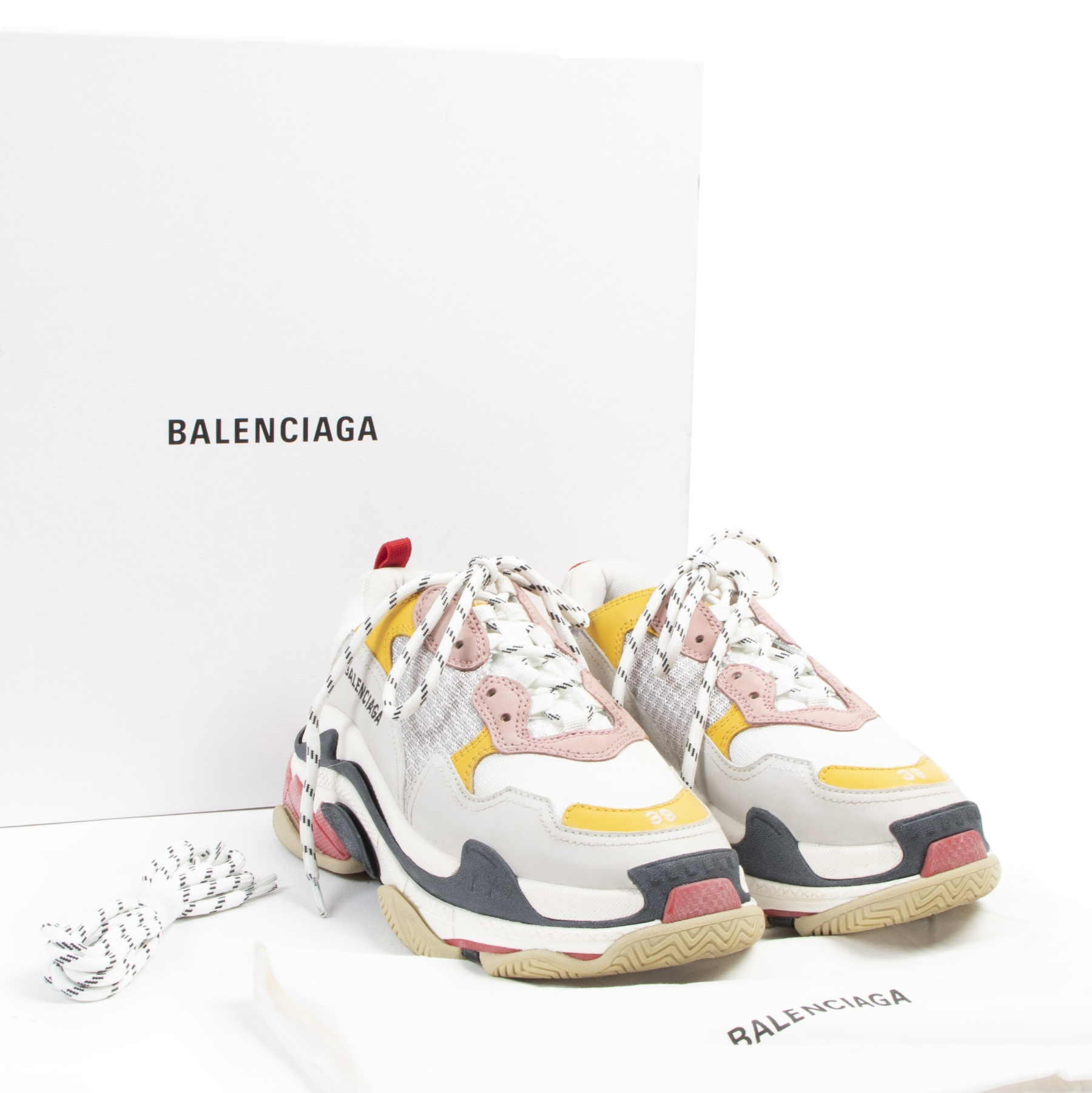 shop safe online Balenciaga Triple S Sneakers - Size 39