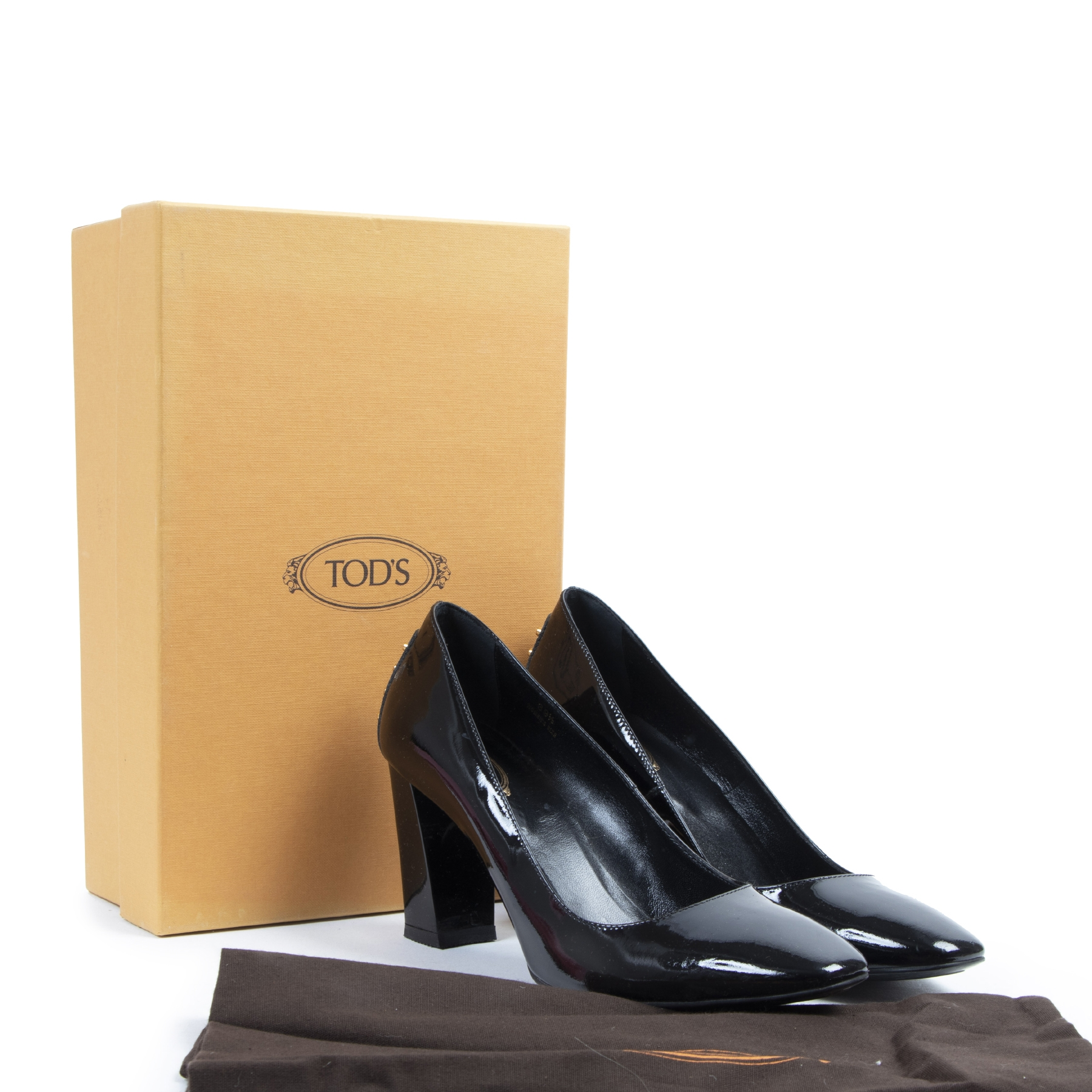 acheter en linge seconde main Tod's Black Patent Pumps - Size 39,5